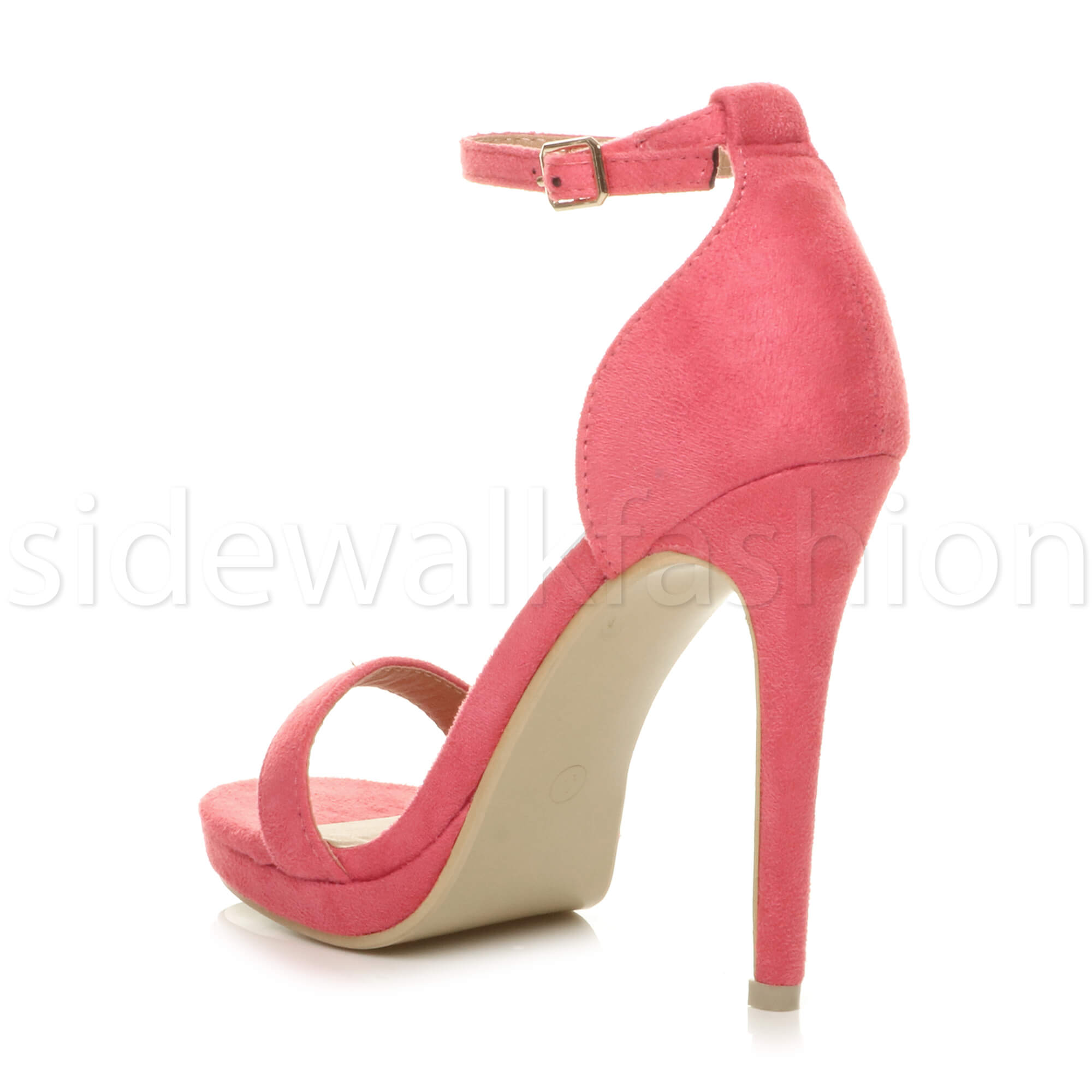 Womens-ladies-high-heel-barely-there-strappy-party-peep-toe-shoes-sandals-size thumbnail 32