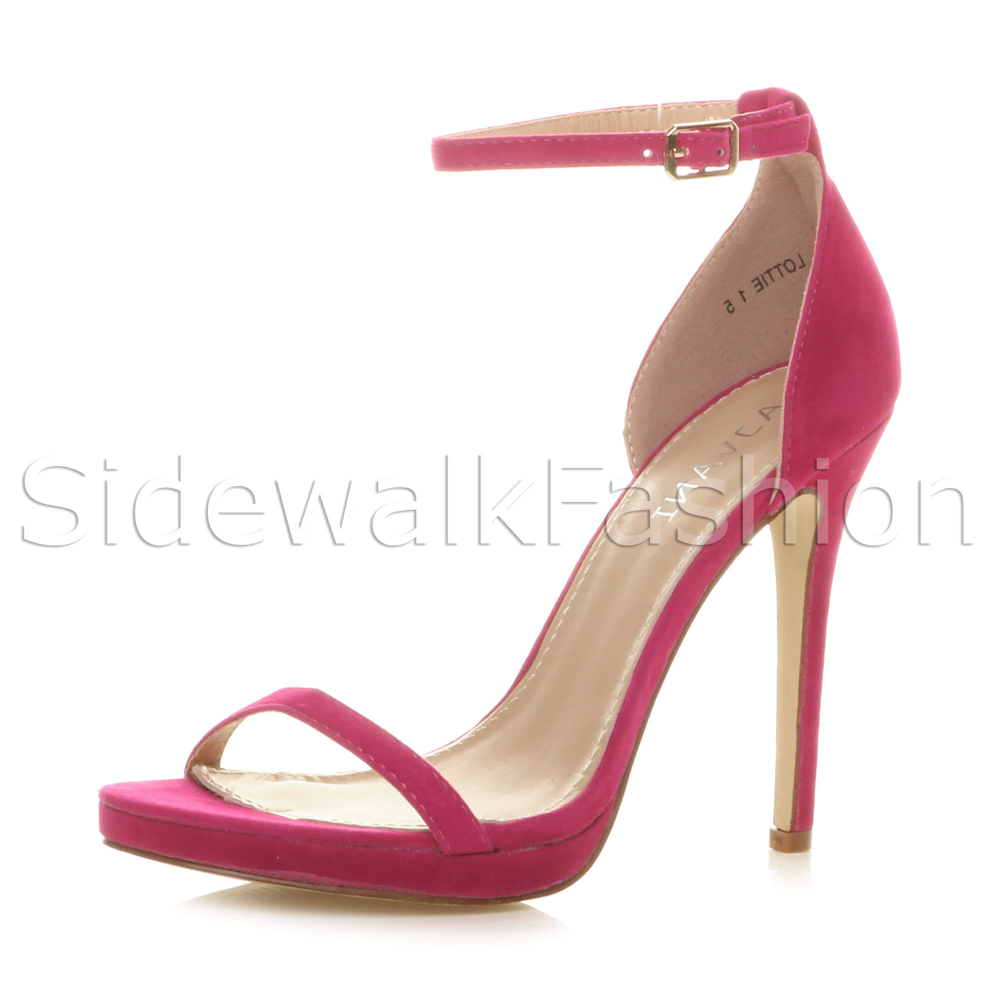 Womens-ladies-high-heel-barely-there-strappy-party-peep-toe-shoes-sandals-size thumbnail 36