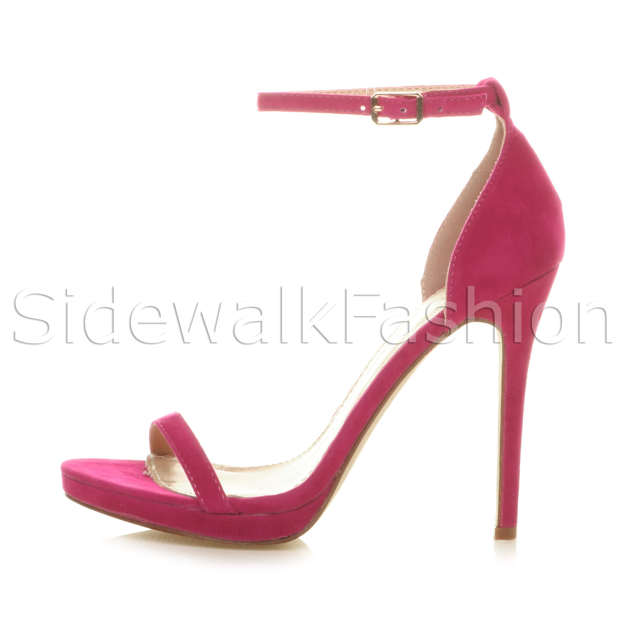 Womens-ladies-high-heel-barely-there-strappy-party-peep-toe-shoes-sandals-size thumbnail 37