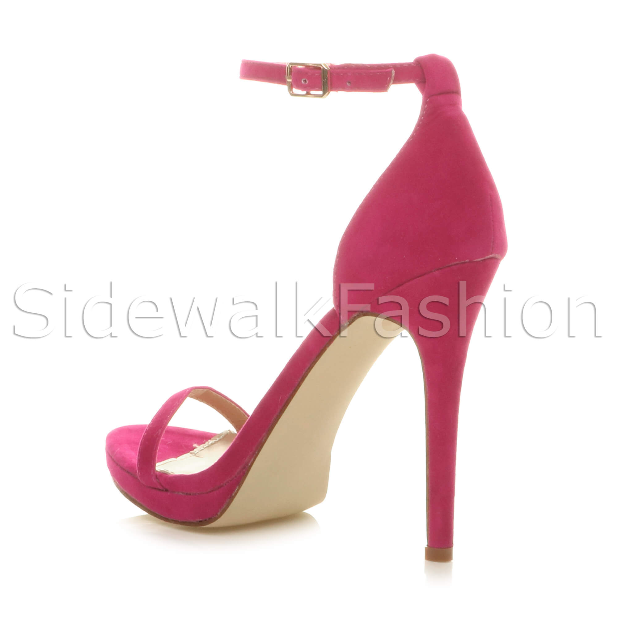 Womens-ladies-high-heel-barely-there-strappy-party-peep-toe-shoes-sandals-size thumbnail 39