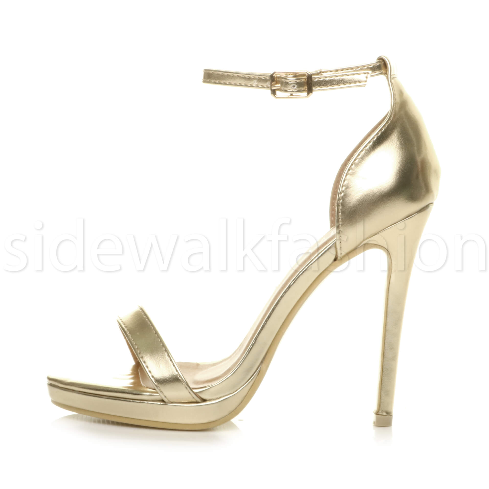 Womens-ladies-high-heel-barely-there-strappy-party-peep-toe-shoes-sandals-size thumbnail 44