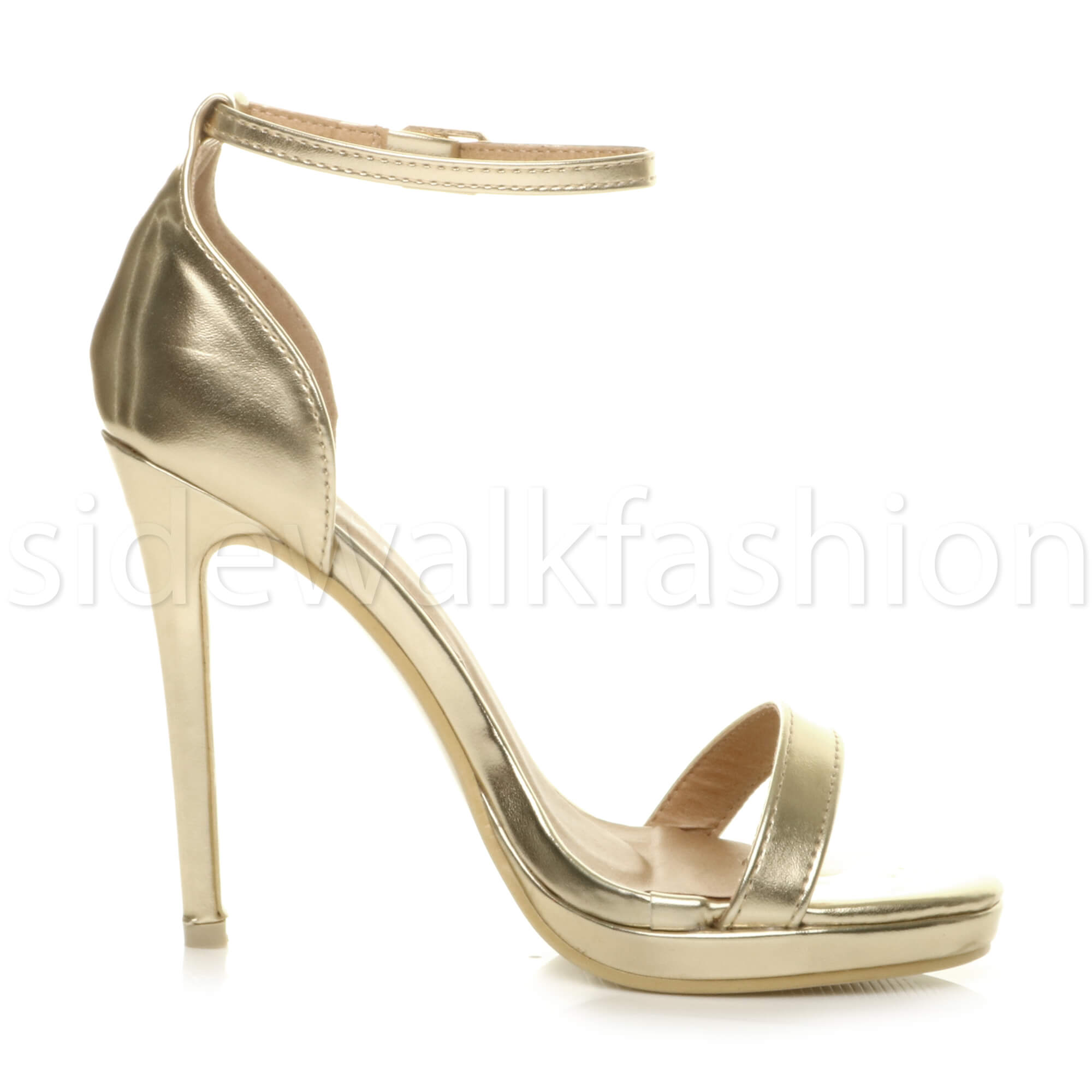Womens-ladies-high-heel-barely-there-strappy-party-peep-toe-shoes-sandals-size thumbnail 45