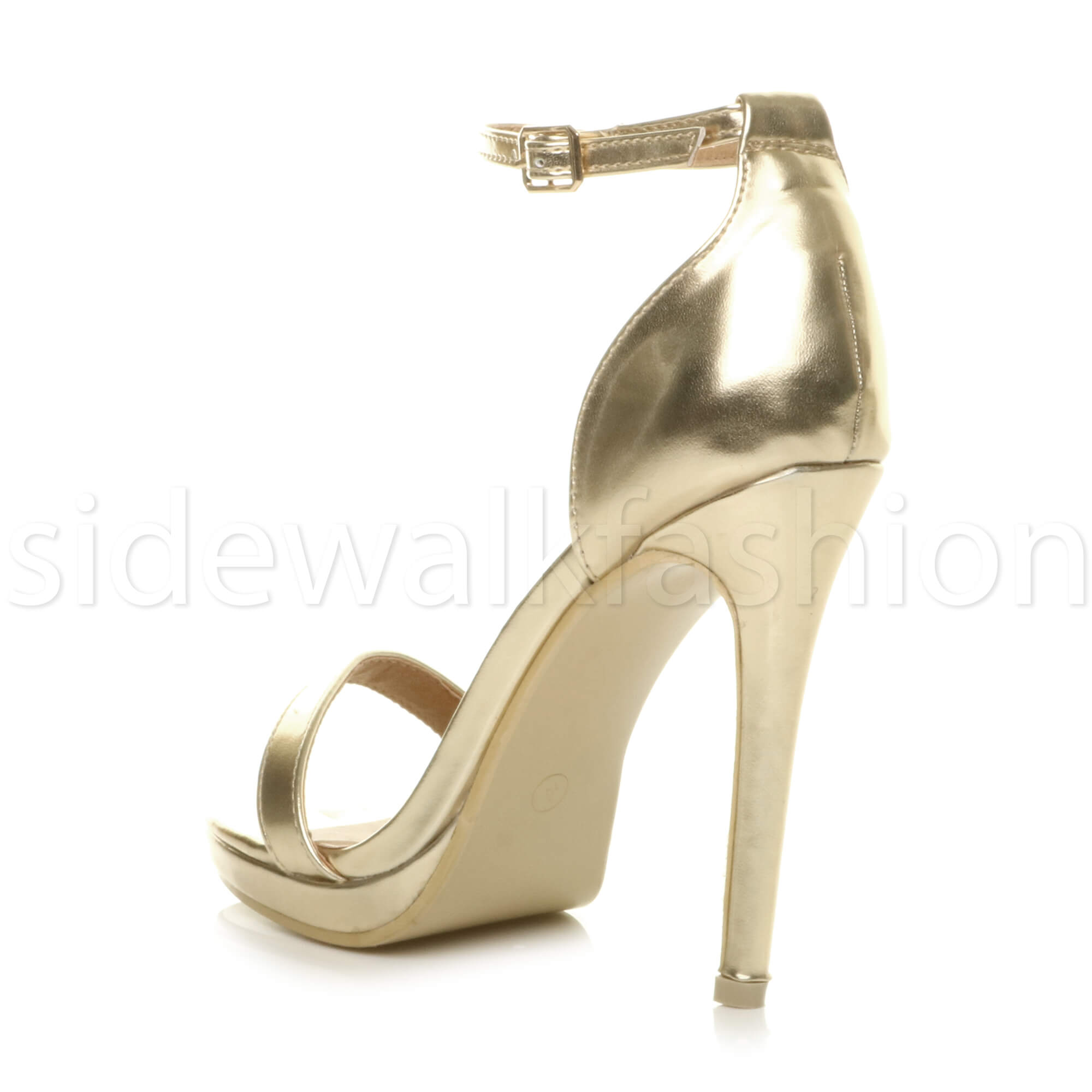 Womens-ladies-high-heel-barely-there-strappy-party-peep-toe-shoes-sandals-size thumbnail 46