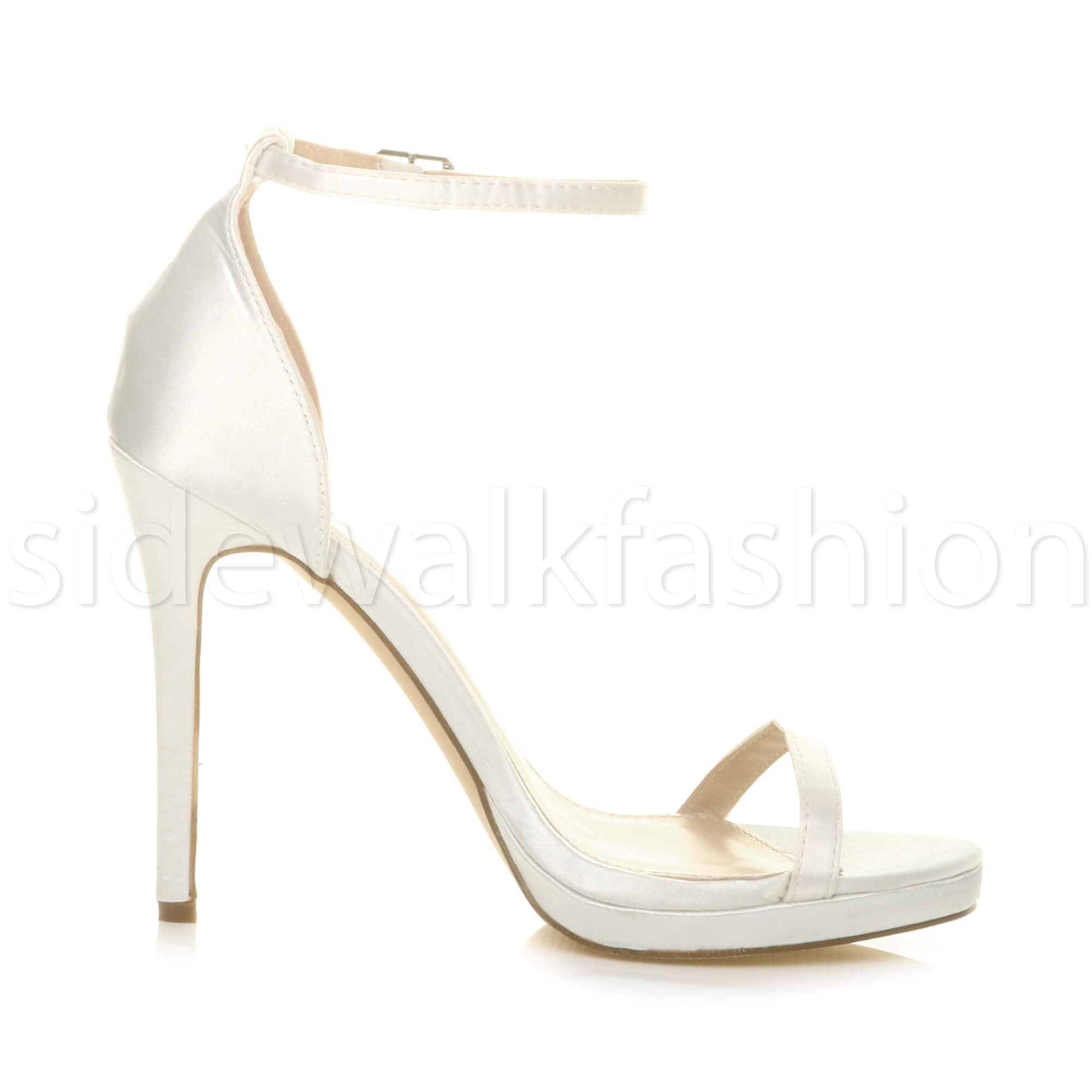 Womens-ladies-high-heel-barely-there-strappy-party-peep-toe-shoes-sandals-size thumbnail 52