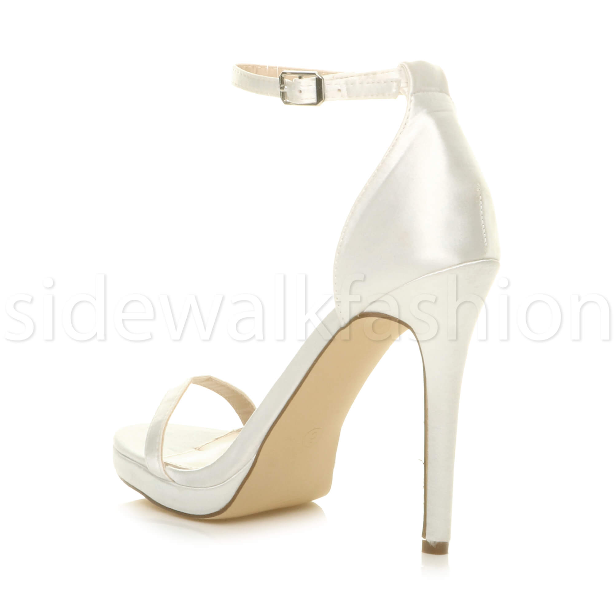 Womens-ladies-high-heel-barely-there-strappy-party-peep-toe-shoes-sandals-size thumbnail 53