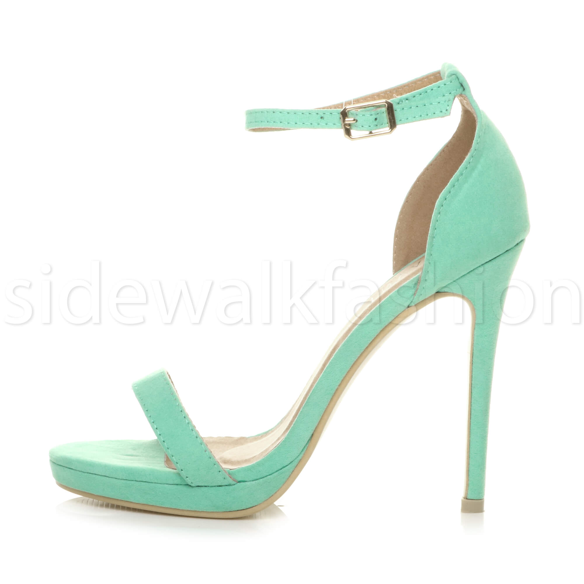 Womens-ladies-high-heel-barely-there-strappy-party-peep-toe-shoes-sandals-size thumbnail 58