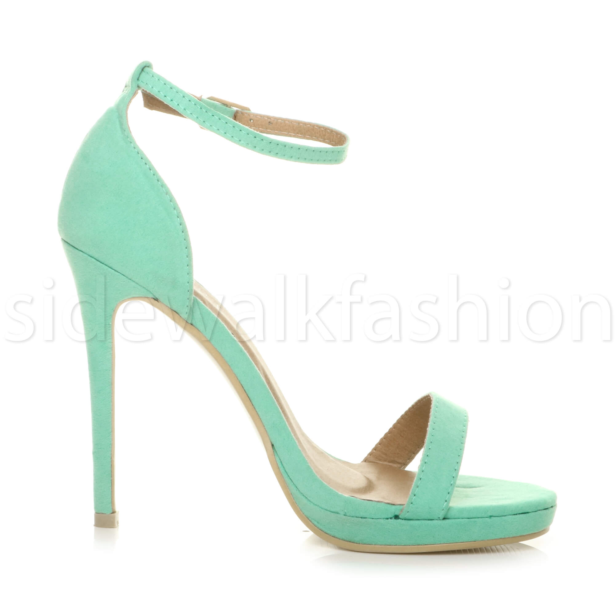 Womens-ladies-high-heel-barely-there-strappy-party-peep-toe-shoes-sandals-size thumbnail 59