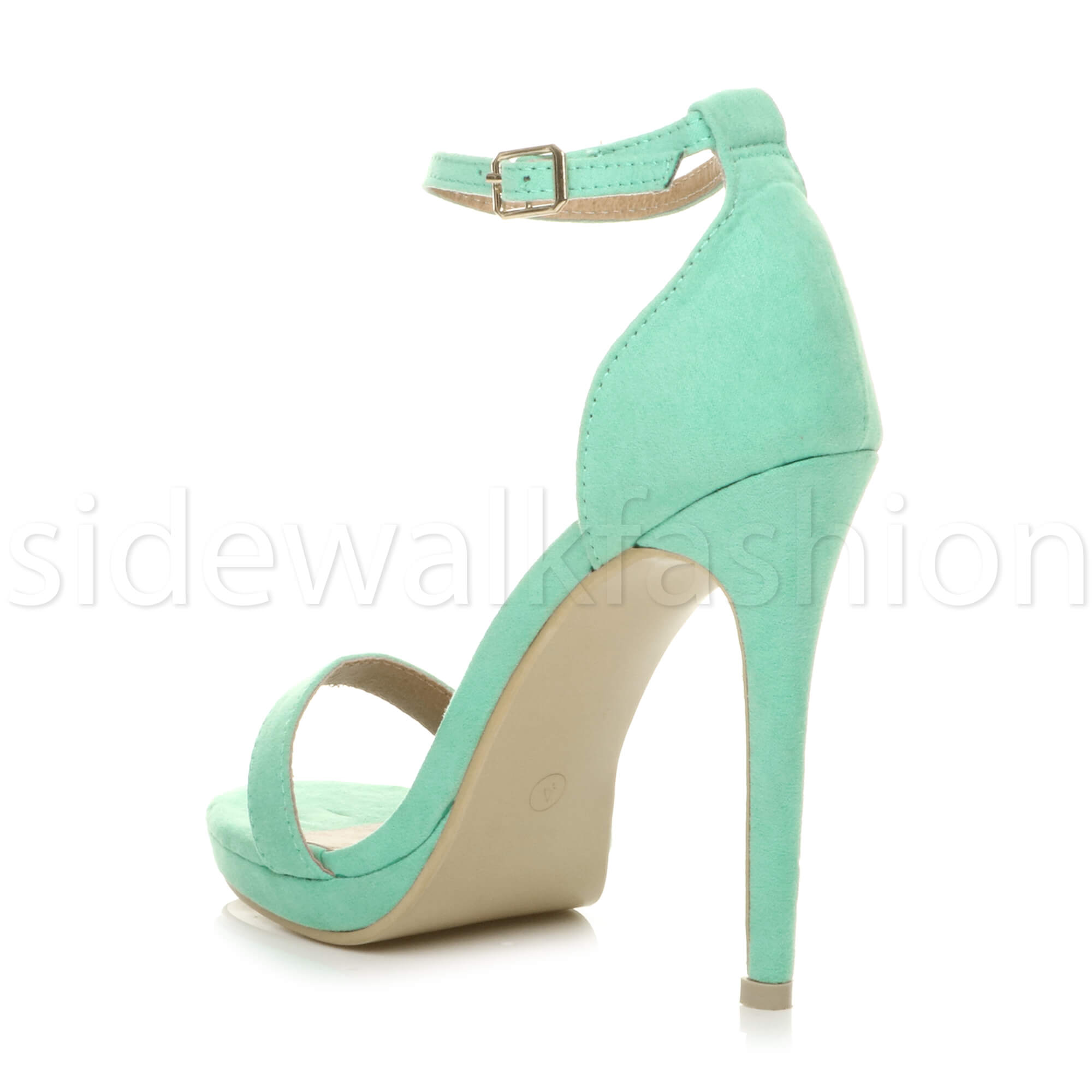 Womens-ladies-high-heel-barely-there-strappy-party-peep-toe-shoes-sandals-size thumbnail 60