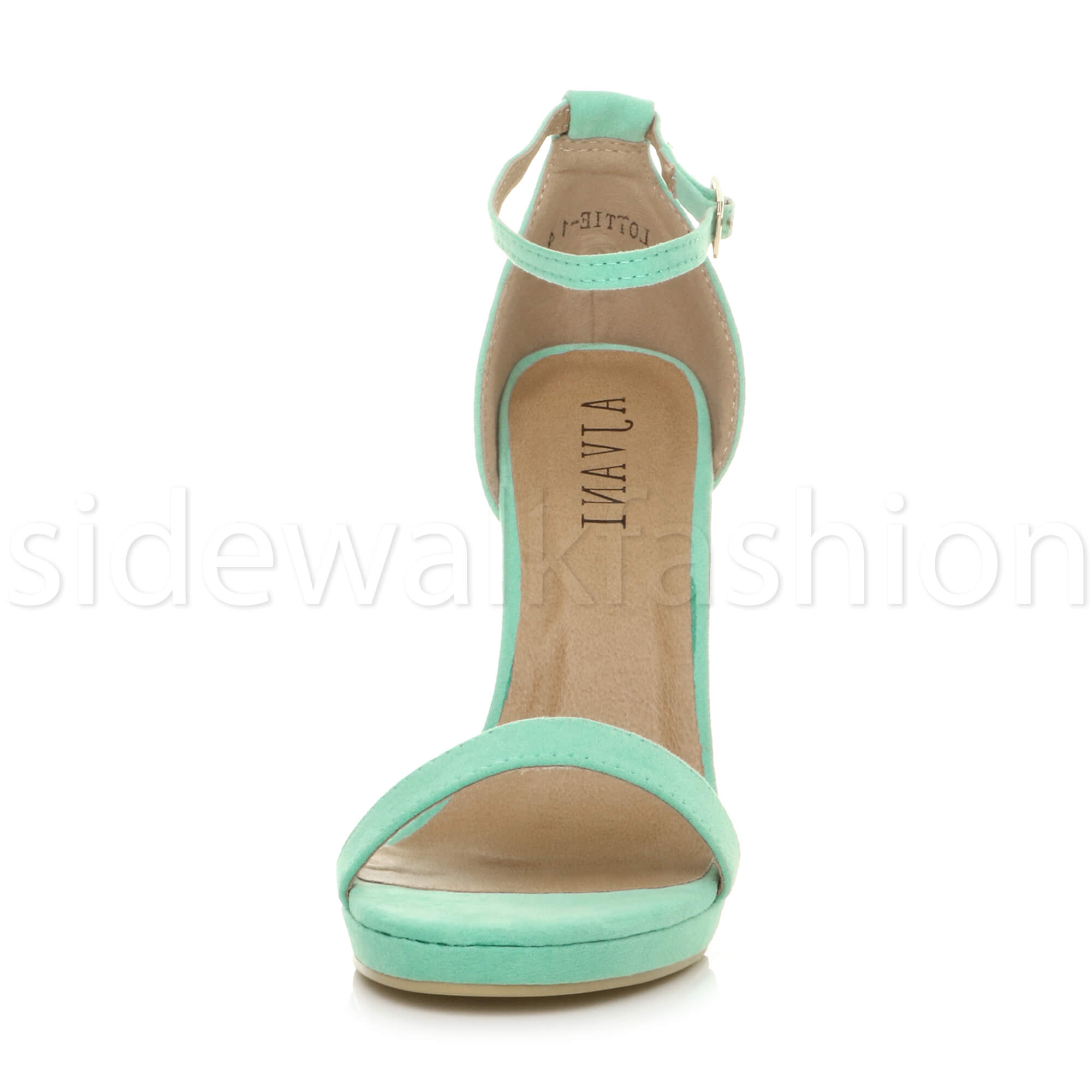 Womens-ladies-high-heel-barely-there-strappy-party-peep-toe-shoes-sandals-size thumbnail 61