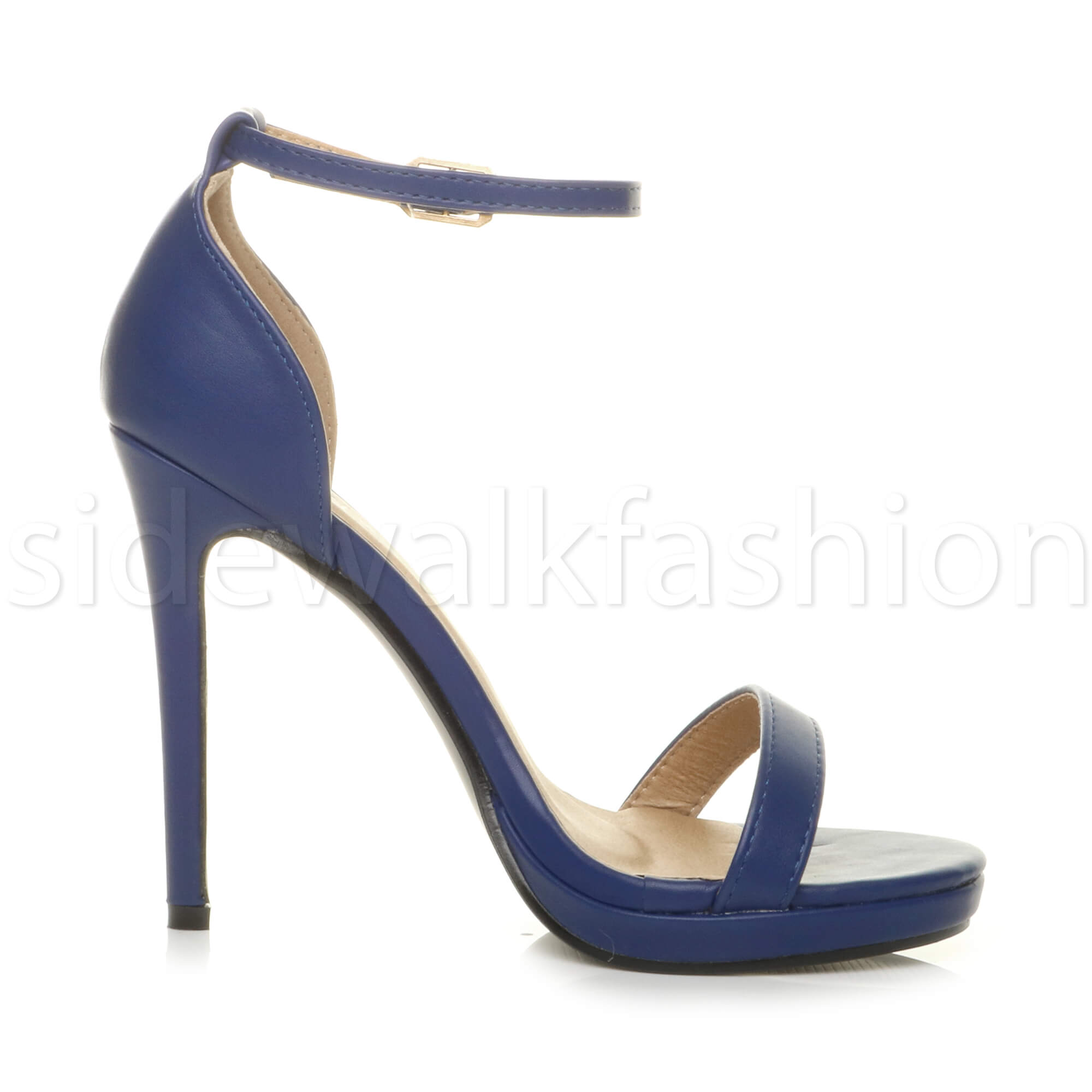 Womens-ladies-high-heel-barely-there-strappy-party-peep-toe-shoes-sandals-size thumbnail 66