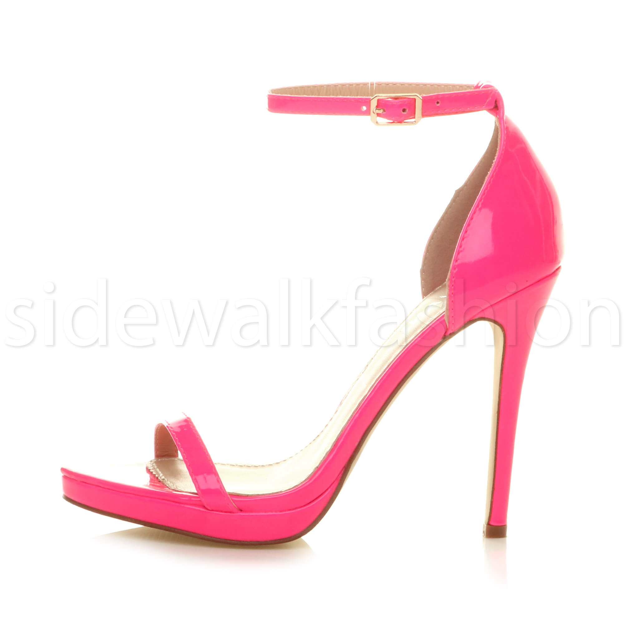 Womens-ladies-high-heel-barely-there-strappy-party-peep-toe-shoes-sandals-size thumbnail 72