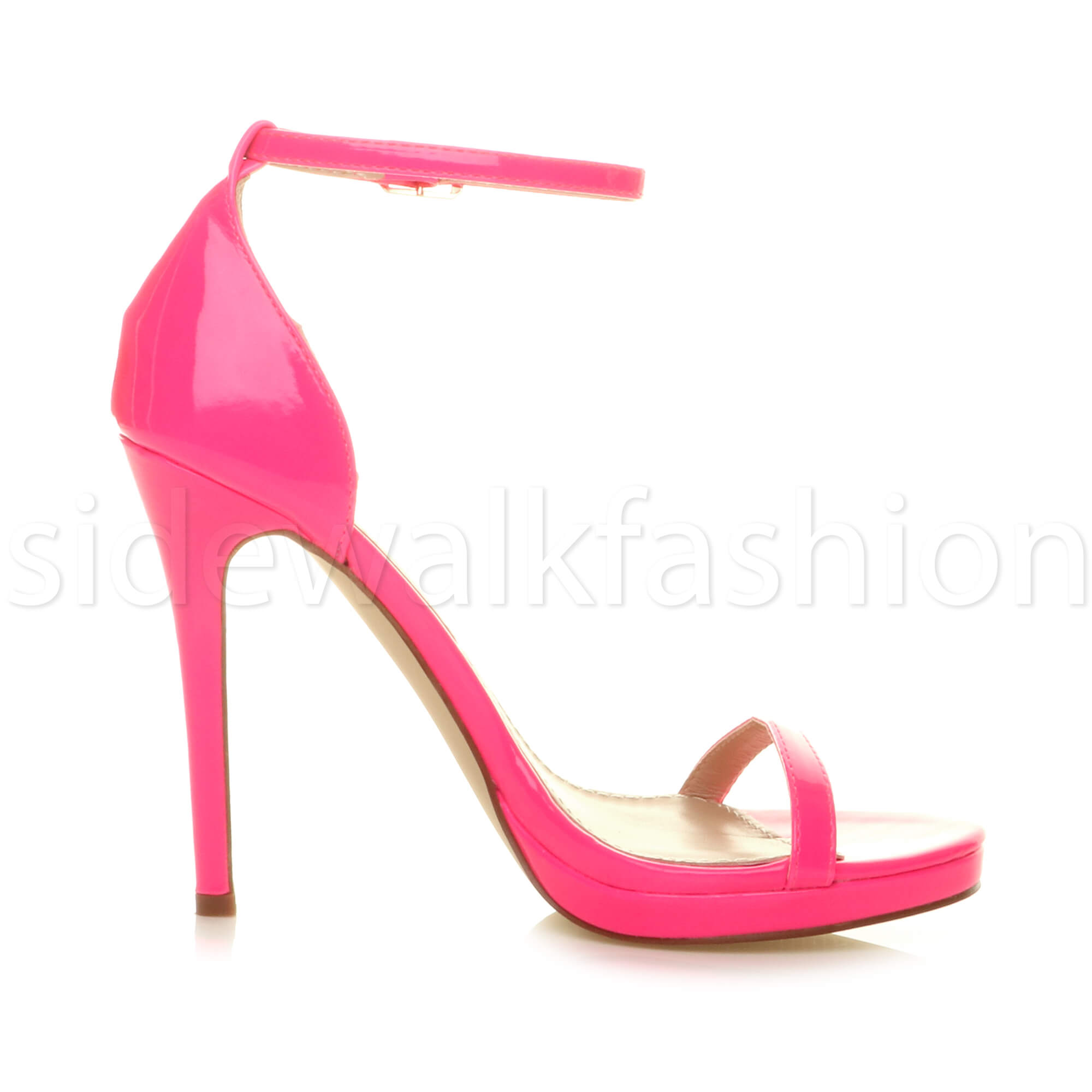 Womens-ladies-high-heel-barely-there-strappy-party-peep-toe-shoes-sandals-size thumbnail 73