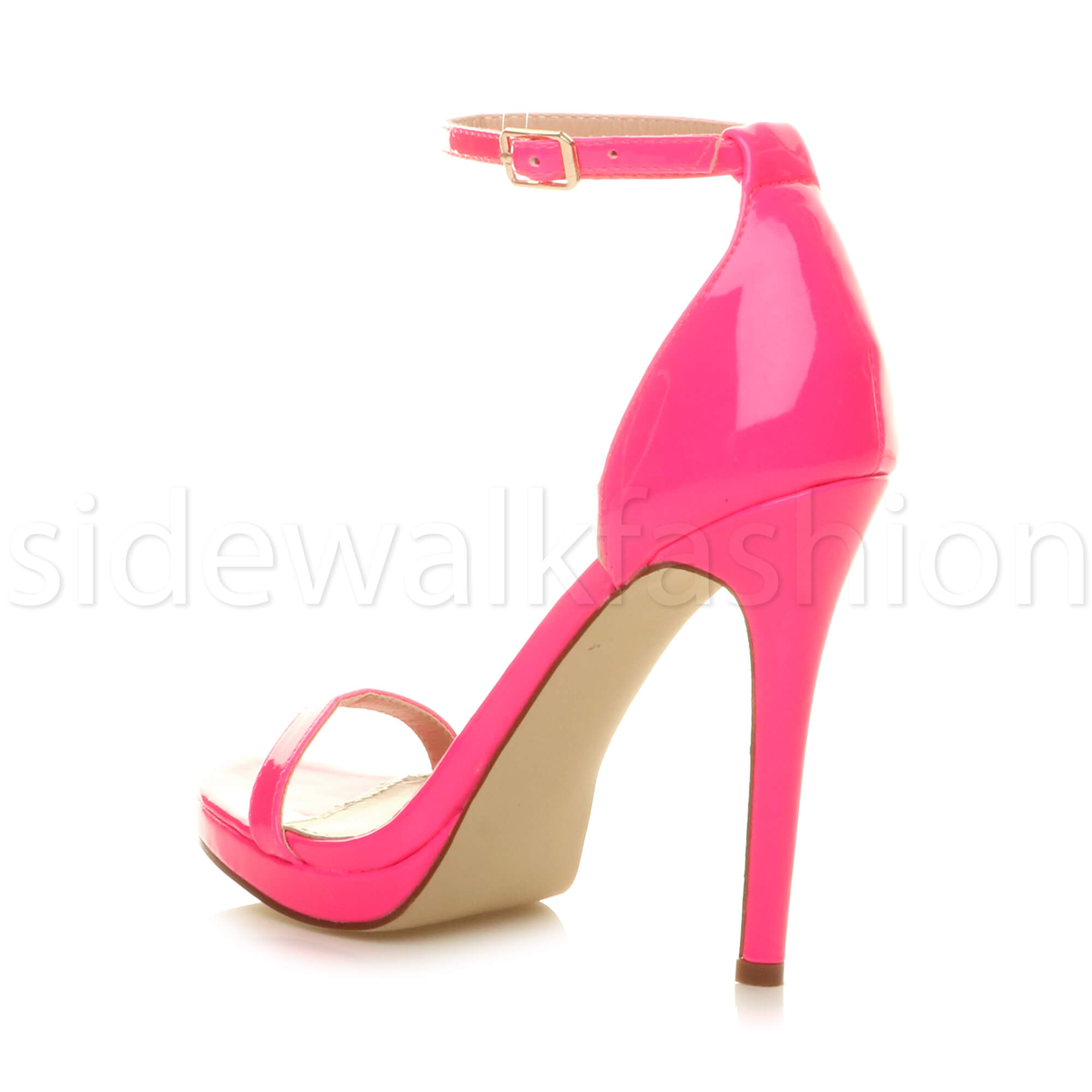 Womens-ladies-high-heel-barely-there-strappy-party-peep-toe-shoes-sandals-size thumbnail 74
