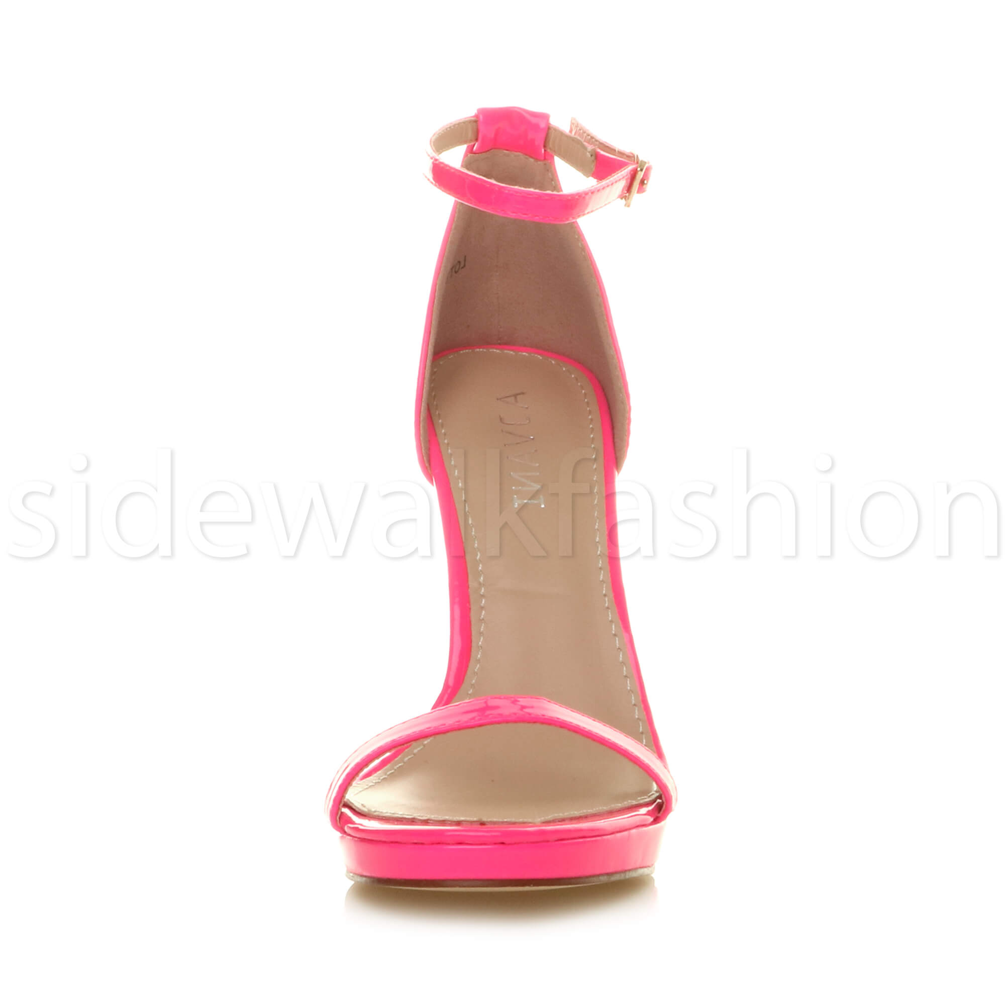 Womens-ladies-high-heel-barely-there-strappy-party-peep-toe-shoes-sandals-size thumbnail 75