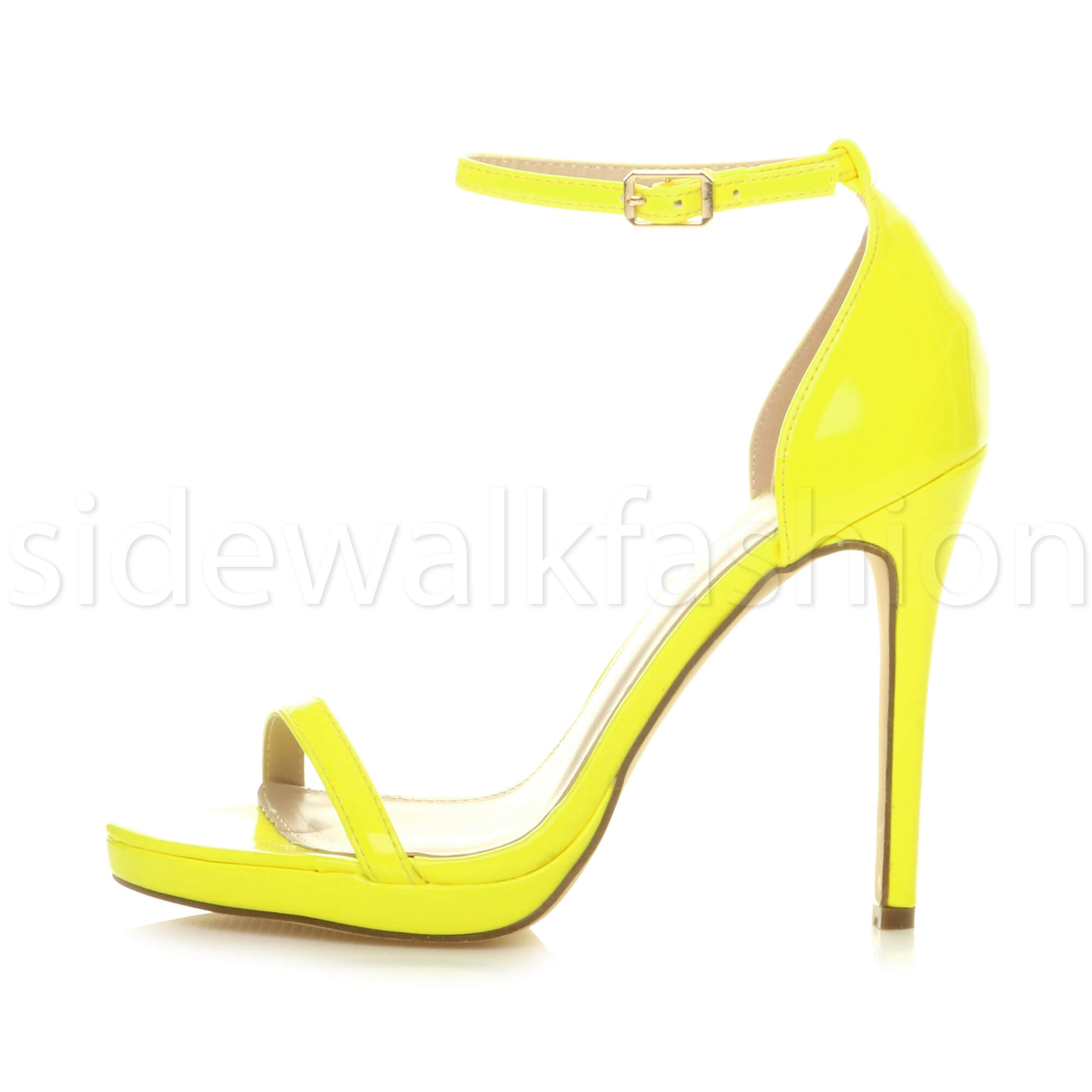 Womens-ladies-high-heel-barely-there-strappy-party-peep-toe-shoes-sandals-size thumbnail 79