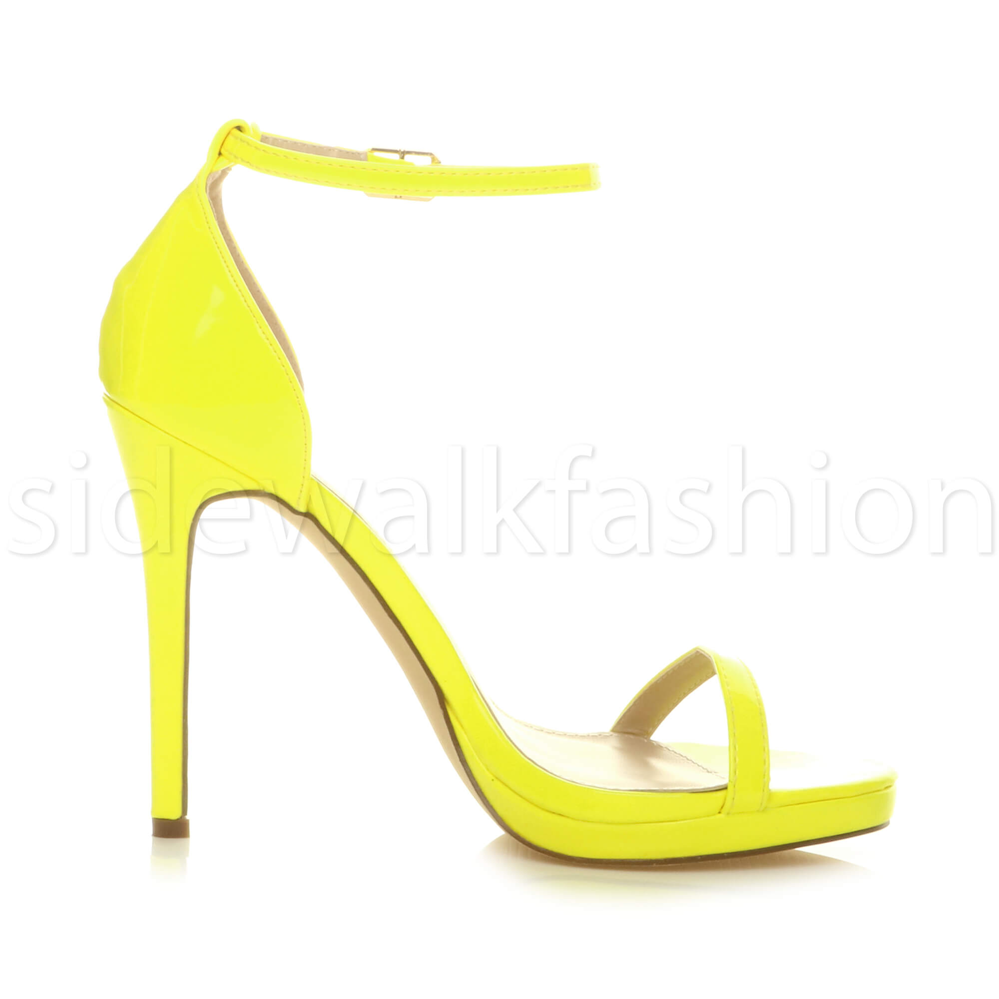 Womens-ladies-high-heel-barely-there-strappy-party-peep-toe-shoes-sandals-size thumbnail 80