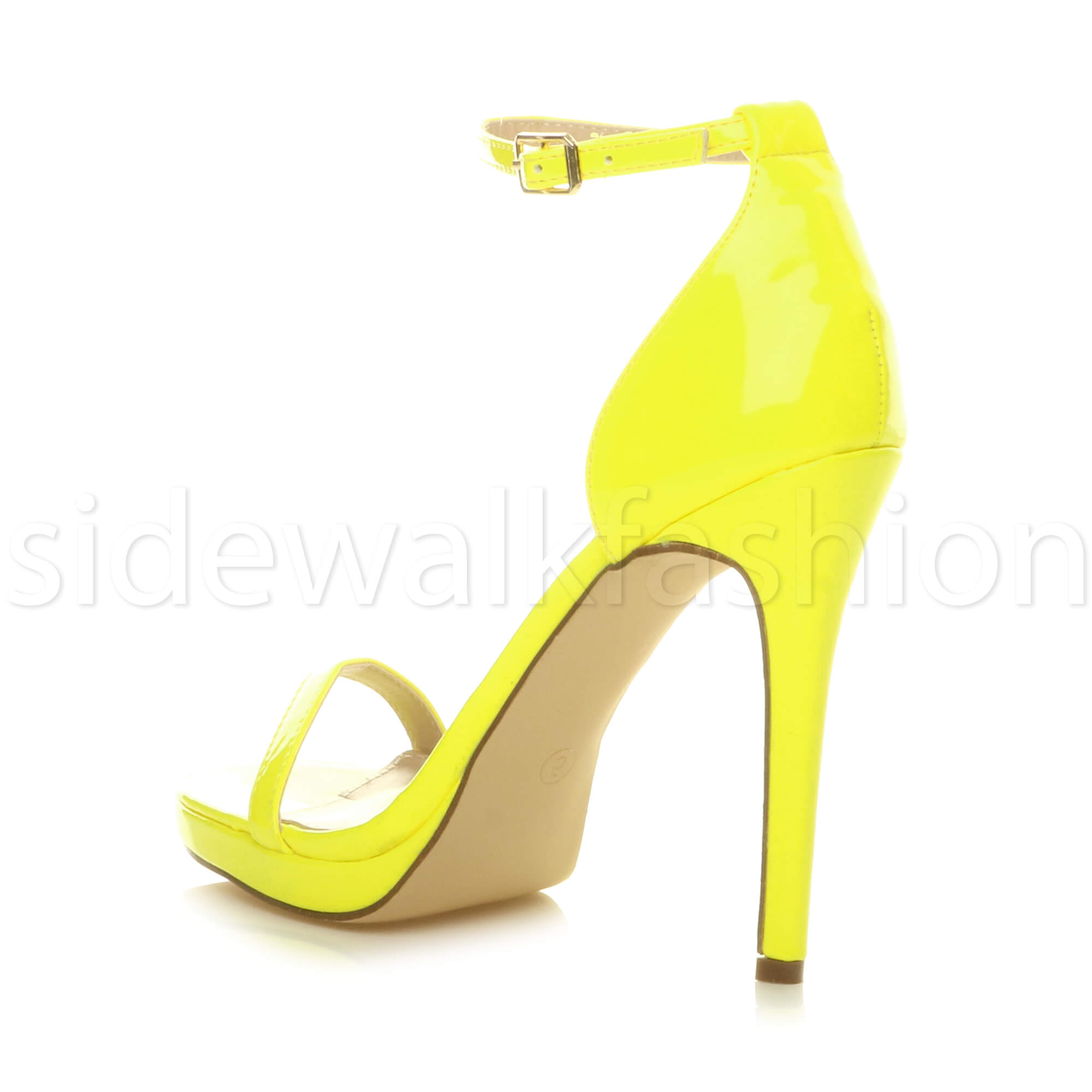 Womens-ladies-high-heel-barely-there-strappy-party-peep-toe-shoes-sandals-size thumbnail 81