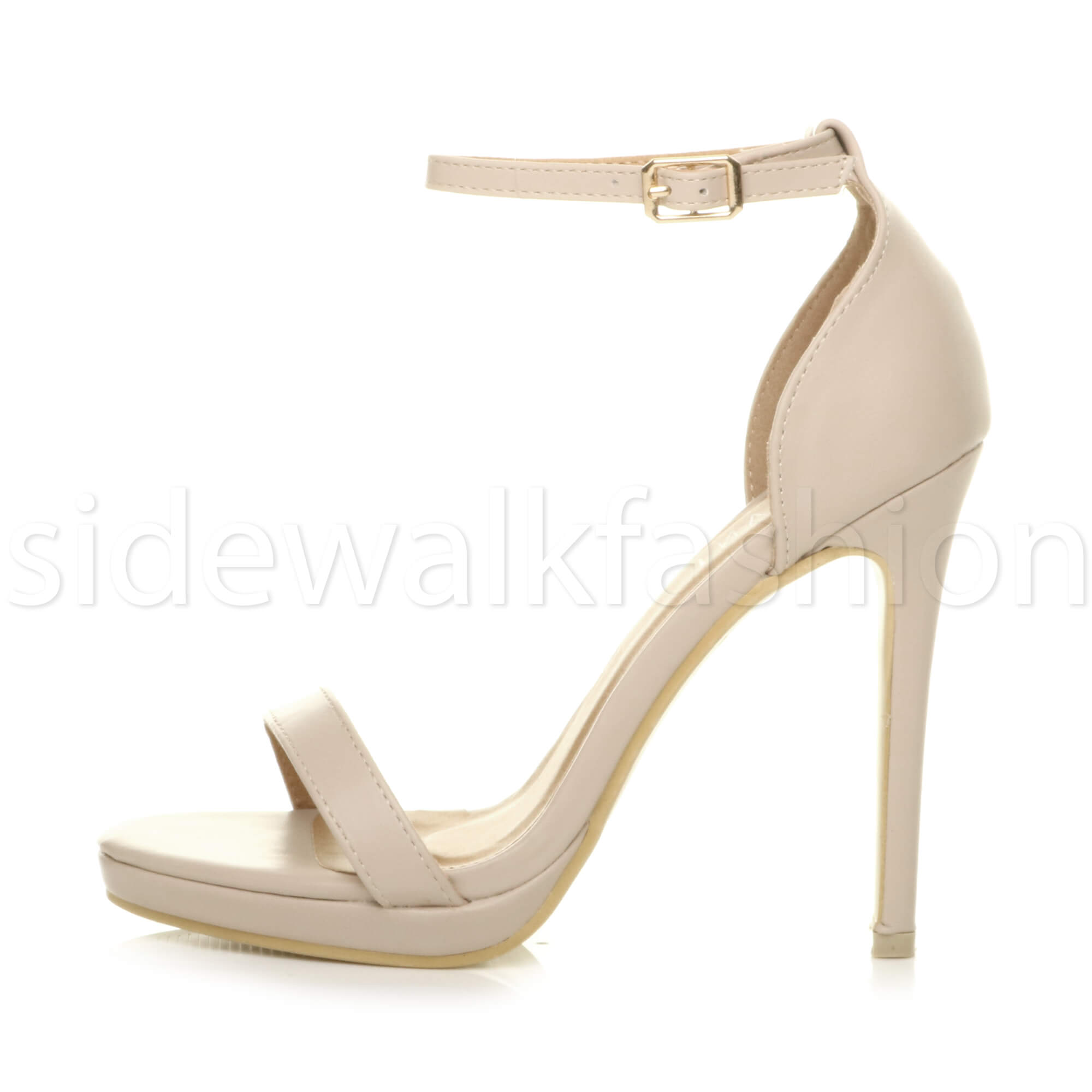 Womens-ladies-high-heel-barely-there-strappy-party-peep-toe-shoes-sandals-size thumbnail 86