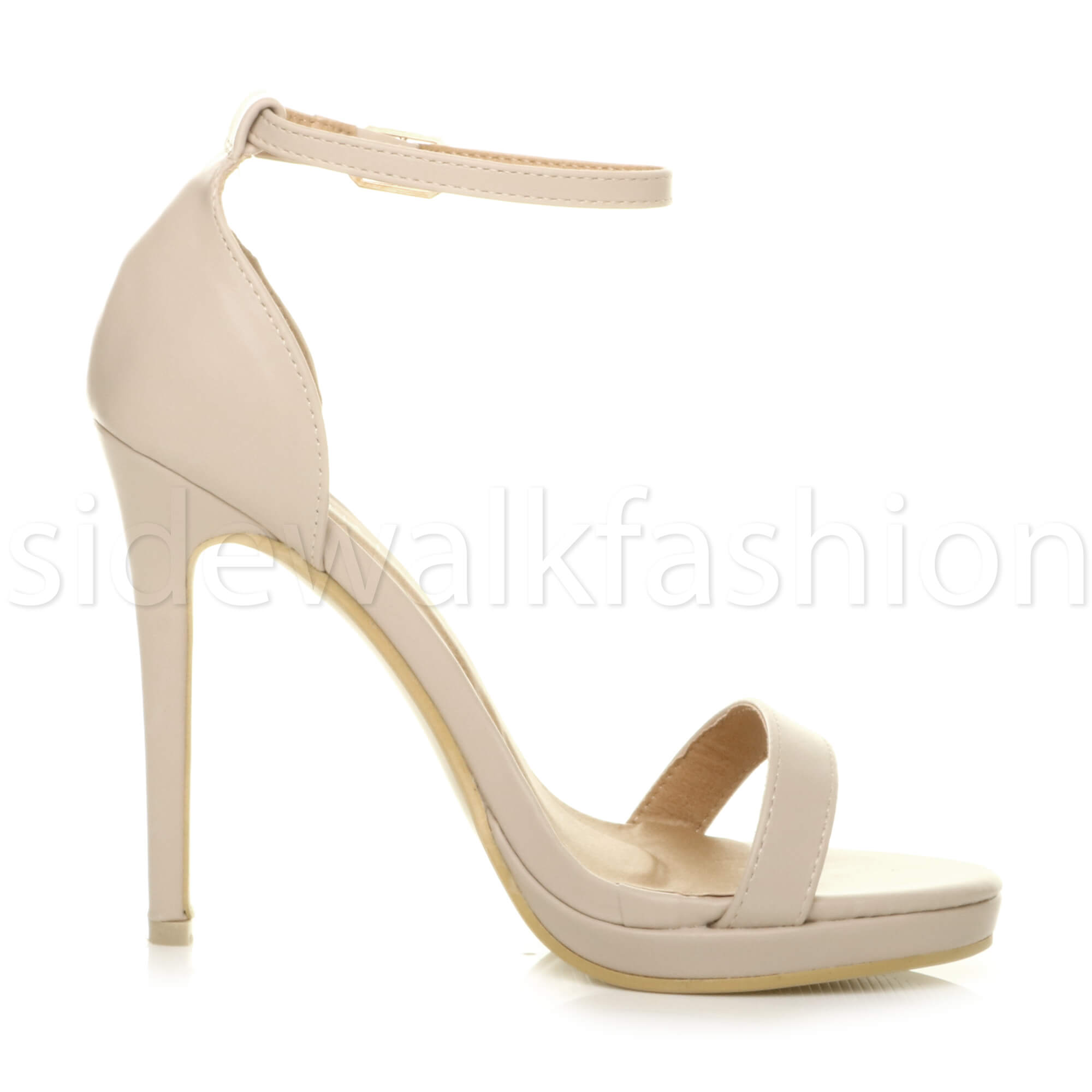 Womens-ladies-high-heel-barely-there-strappy-party-peep-toe-shoes-sandals-size thumbnail 87