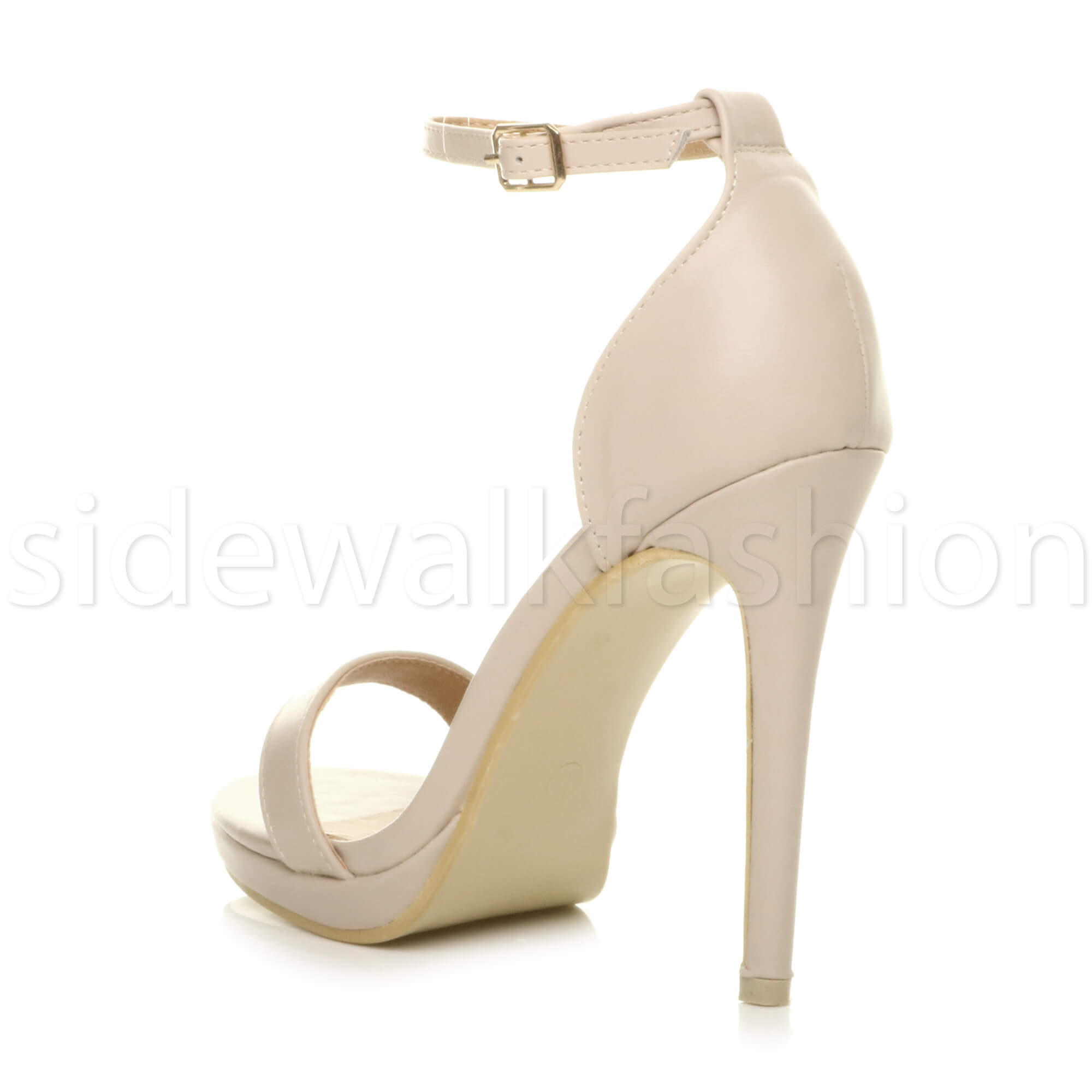 Womens-ladies-high-heel-barely-there-strappy-party-peep-toe-shoes-sandals-size thumbnail 88
