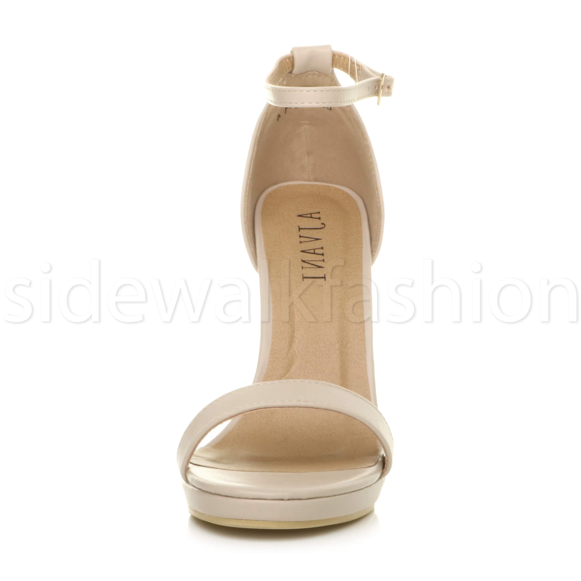 Womens-ladies-high-heel-barely-there-strappy-party-peep-toe-shoes-sandals-size thumbnail 89