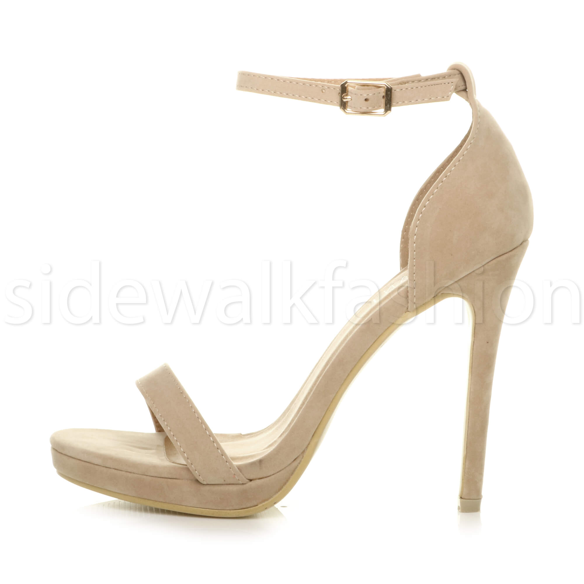 Womens-ladies-high-heel-barely-there-strappy-party-peep-toe-shoes-sandals-size thumbnail 93