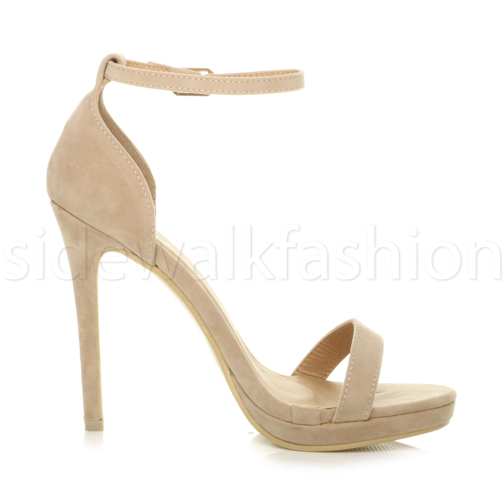 Womens-ladies-high-heel-barely-there-strappy-party-peep-toe-shoes-sandals-size thumbnail 94