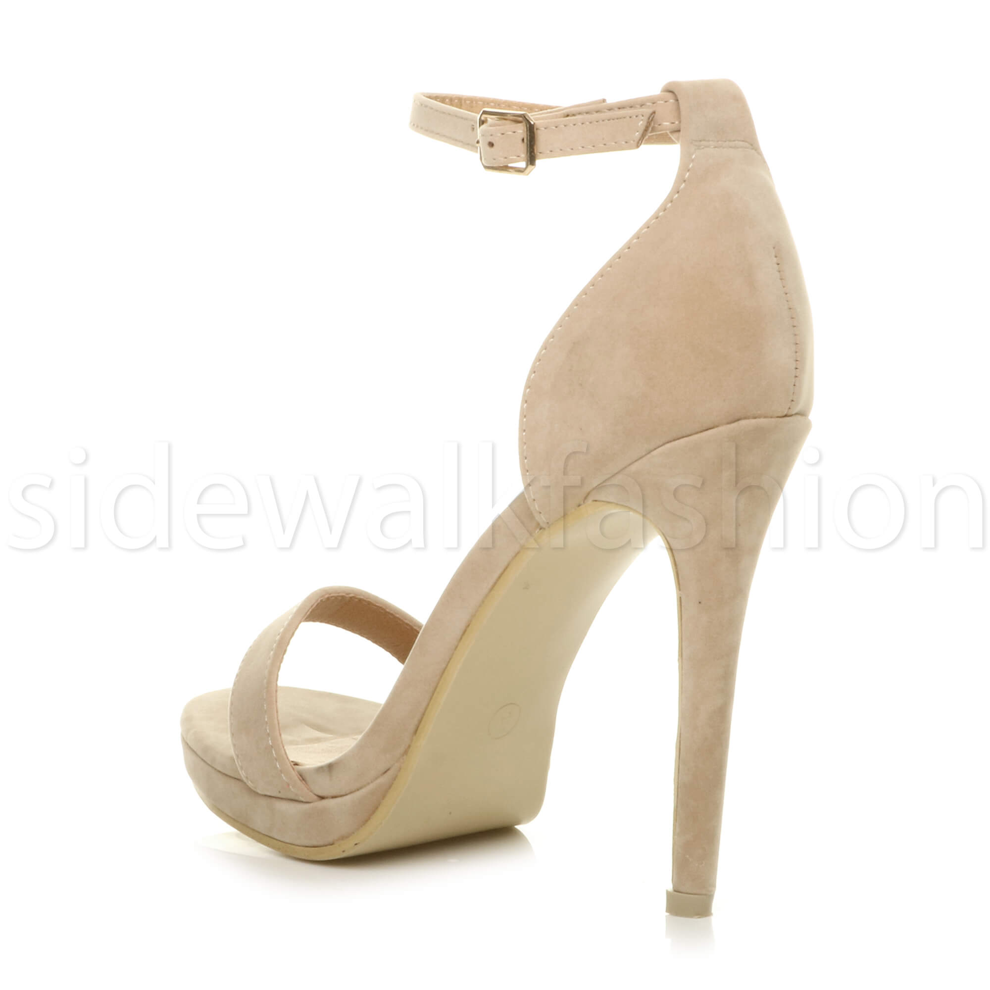 Womens-ladies-high-heel-barely-there-strappy-party-peep-toe-shoes-sandals-size thumbnail 95