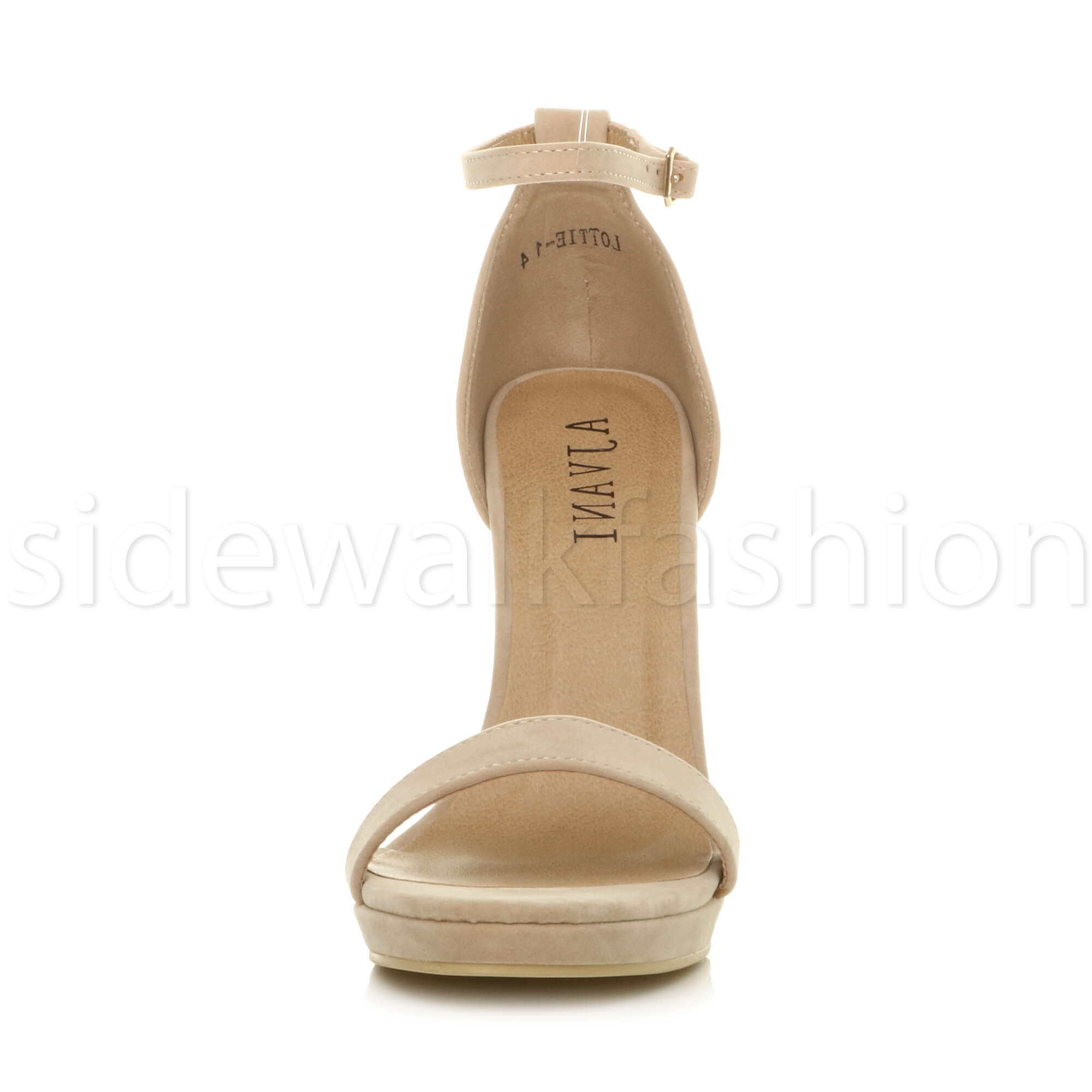 Womens-ladies-high-heel-barely-there-strappy-party-peep-toe-shoes-sandals-size thumbnail 96