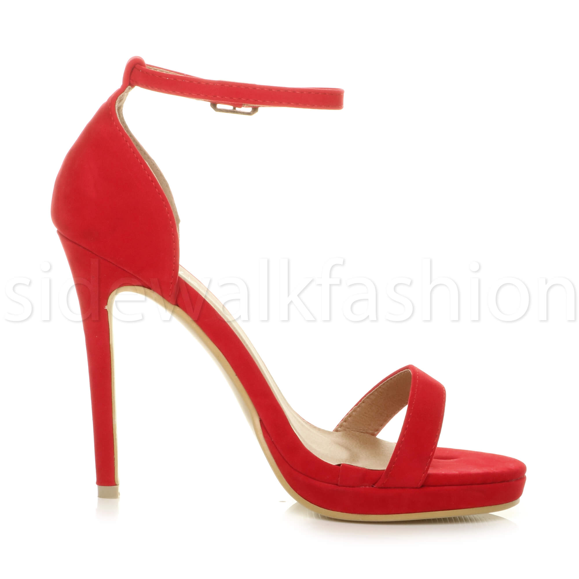 Womens-ladies-high-heel-barely-there-strappy-party-peep-toe-shoes-sandals-size thumbnail 107