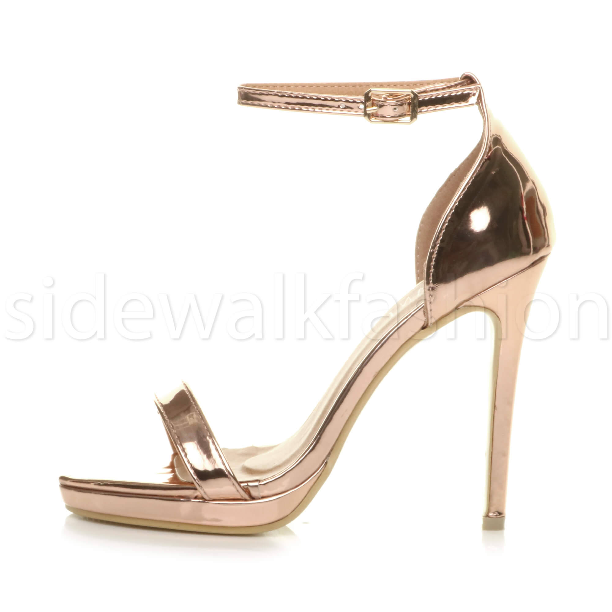 Womens-ladies-high-heel-barely-there-strappy-party-peep-toe-shoes-sandals-size thumbnail 113