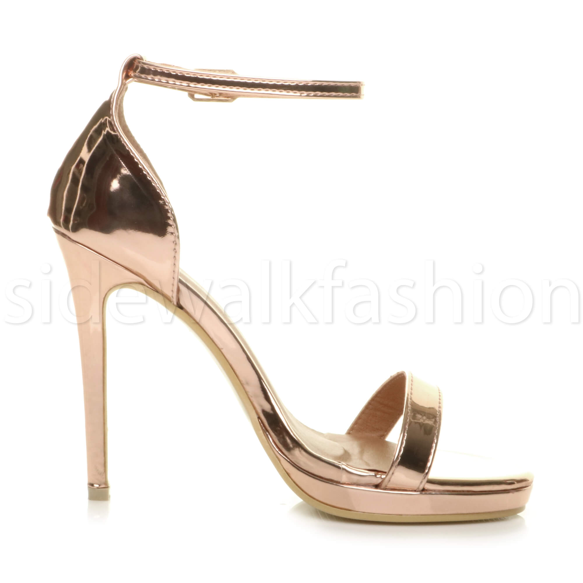 Womens-ladies-high-heel-barely-there-strappy-party-peep-toe-shoes-sandals-size thumbnail 114