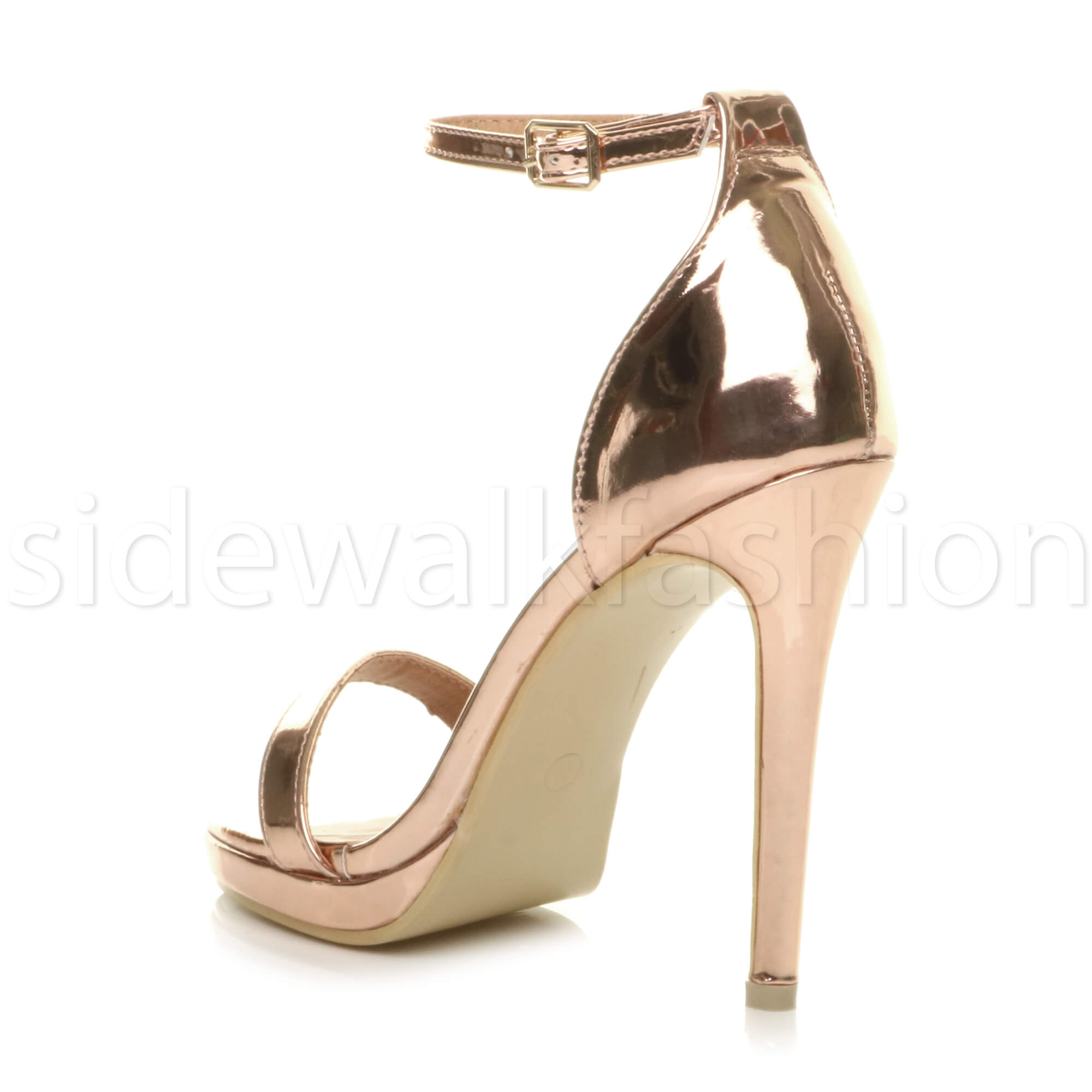 Womens-ladies-high-heel-barely-there-strappy-party-peep-toe-shoes-sandals-size thumbnail 115