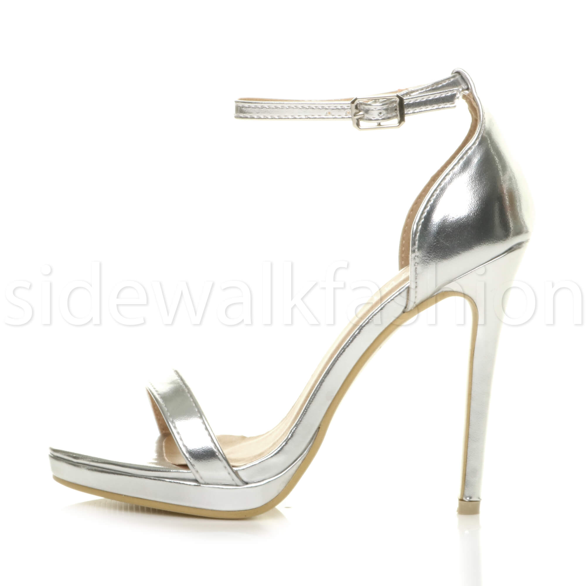 Womens-ladies-high-heel-barely-there-strappy-party-peep-toe-shoes-sandals-size thumbnail 120