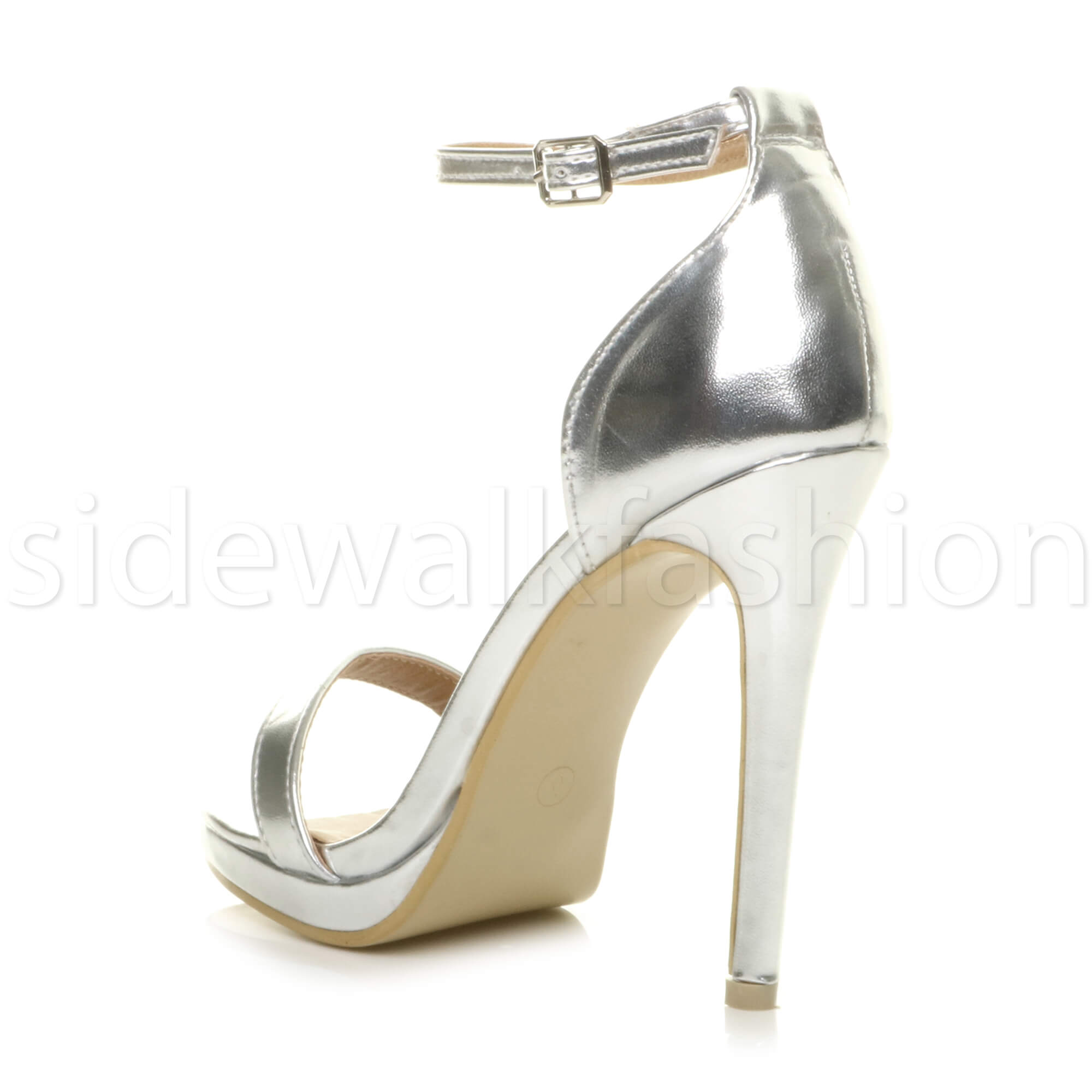 Womens-ladies-high-heel-barely-there-strappy-party-peep-toe-shoes-sandals-size thumbnail 122