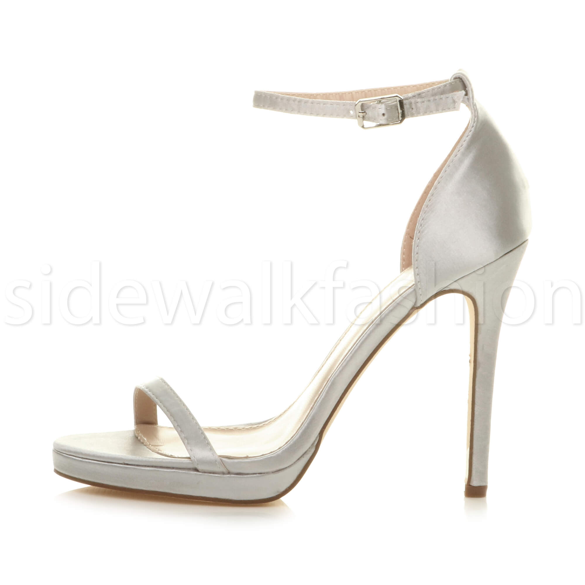 Womens-ladies-high-heel-barely-there-strappy-party-peep-toe-shoes-sandals-size thumbnail 127