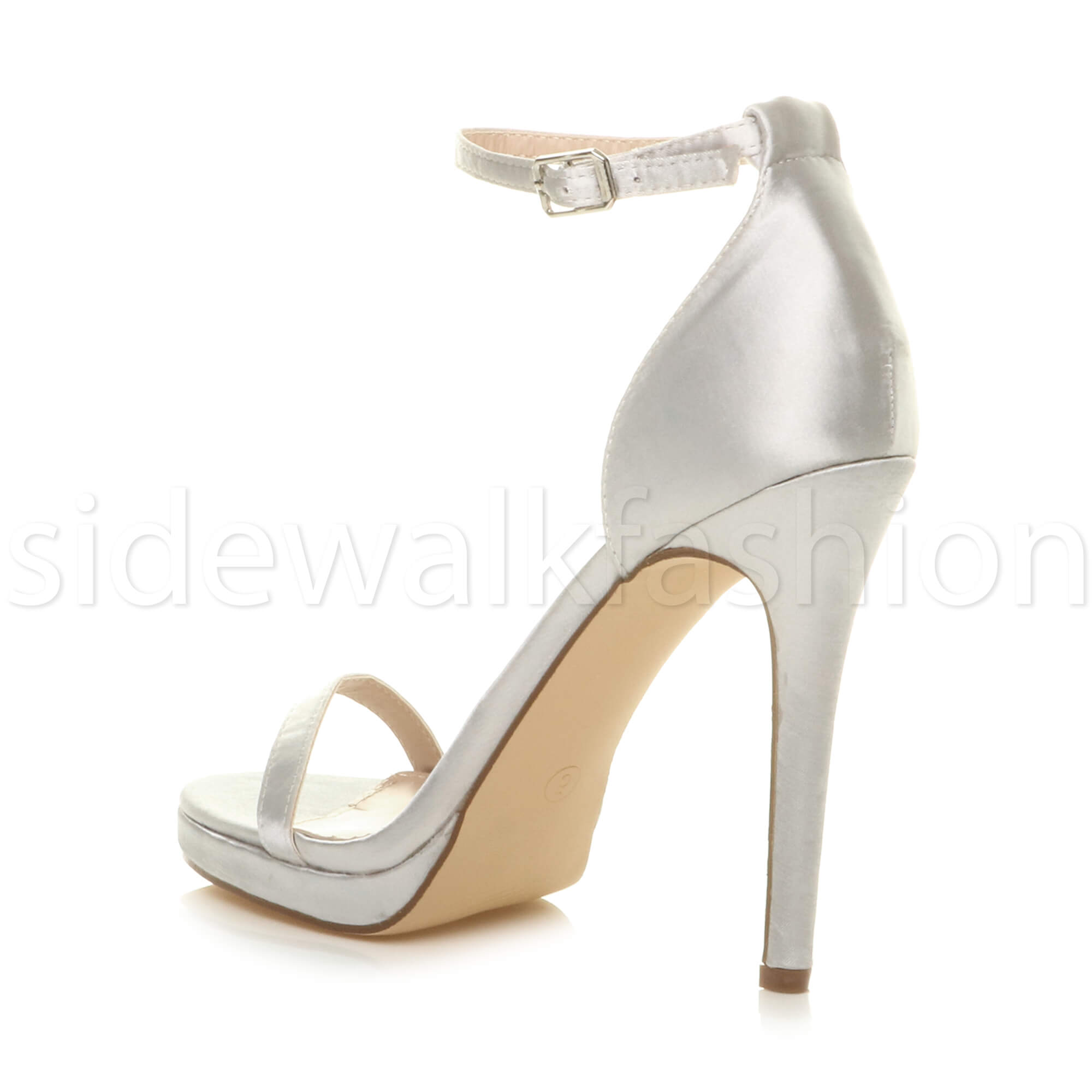 Womens-ladies-high-heel-barely-there-strappy-party-peep-toe-shoes-sandals-size thumbnail 129