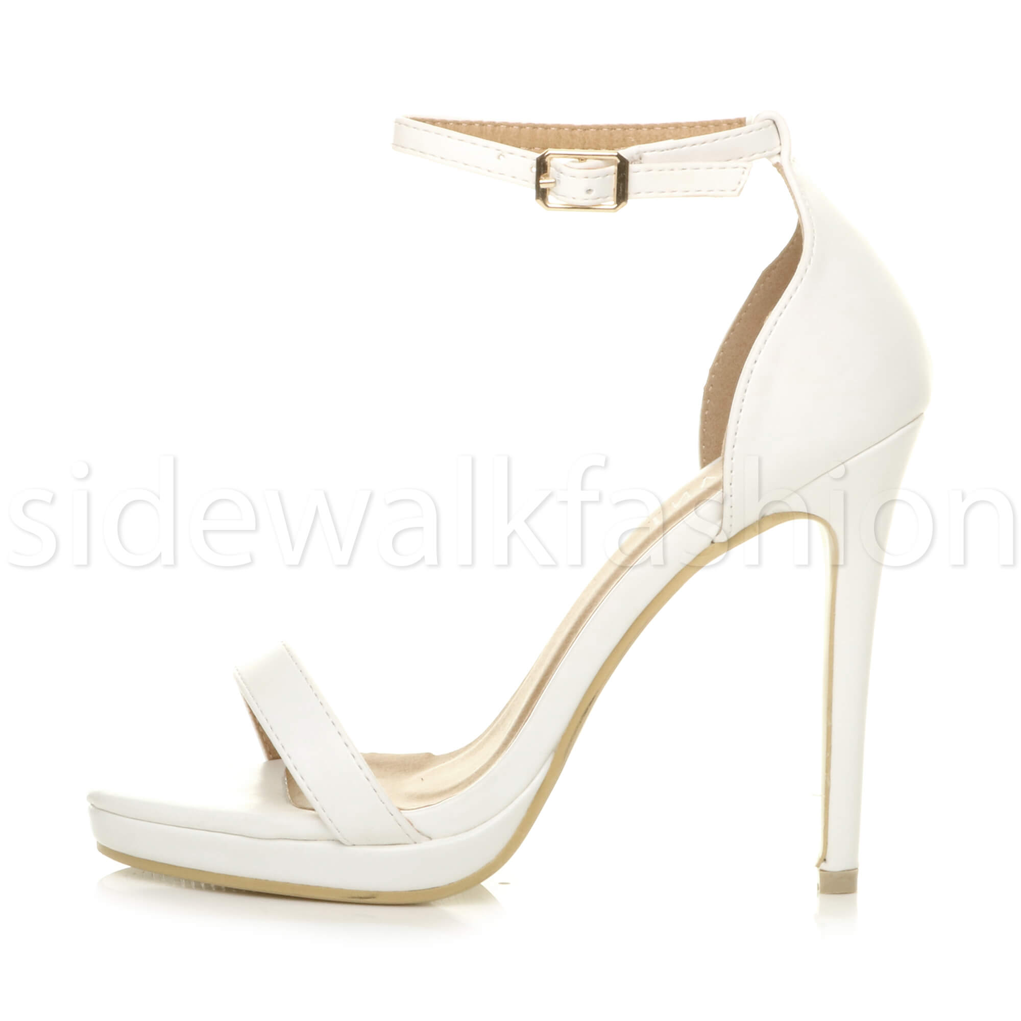Womens-ladies-high-heel-barely-there-strappy-party-peep-toe-shoes-sandals-size thumbnail 134