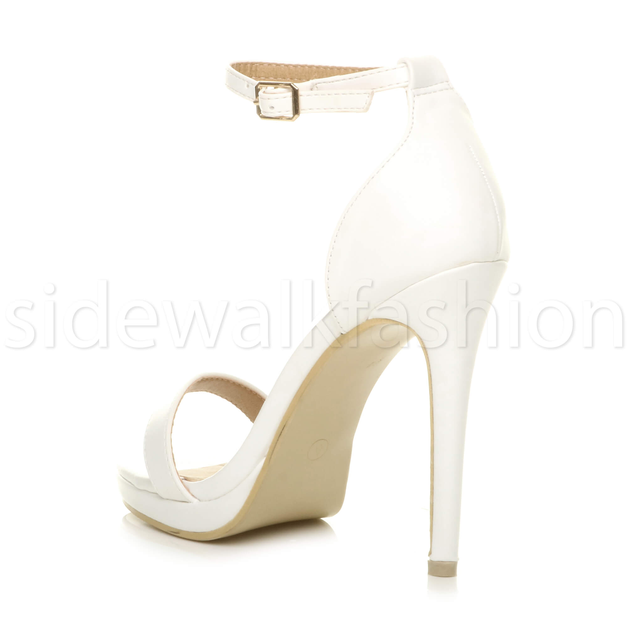 Womens-ladies-high-heel-barely-there-strappy-party-peep-toe-shoes-sandals-size thumbnail 136