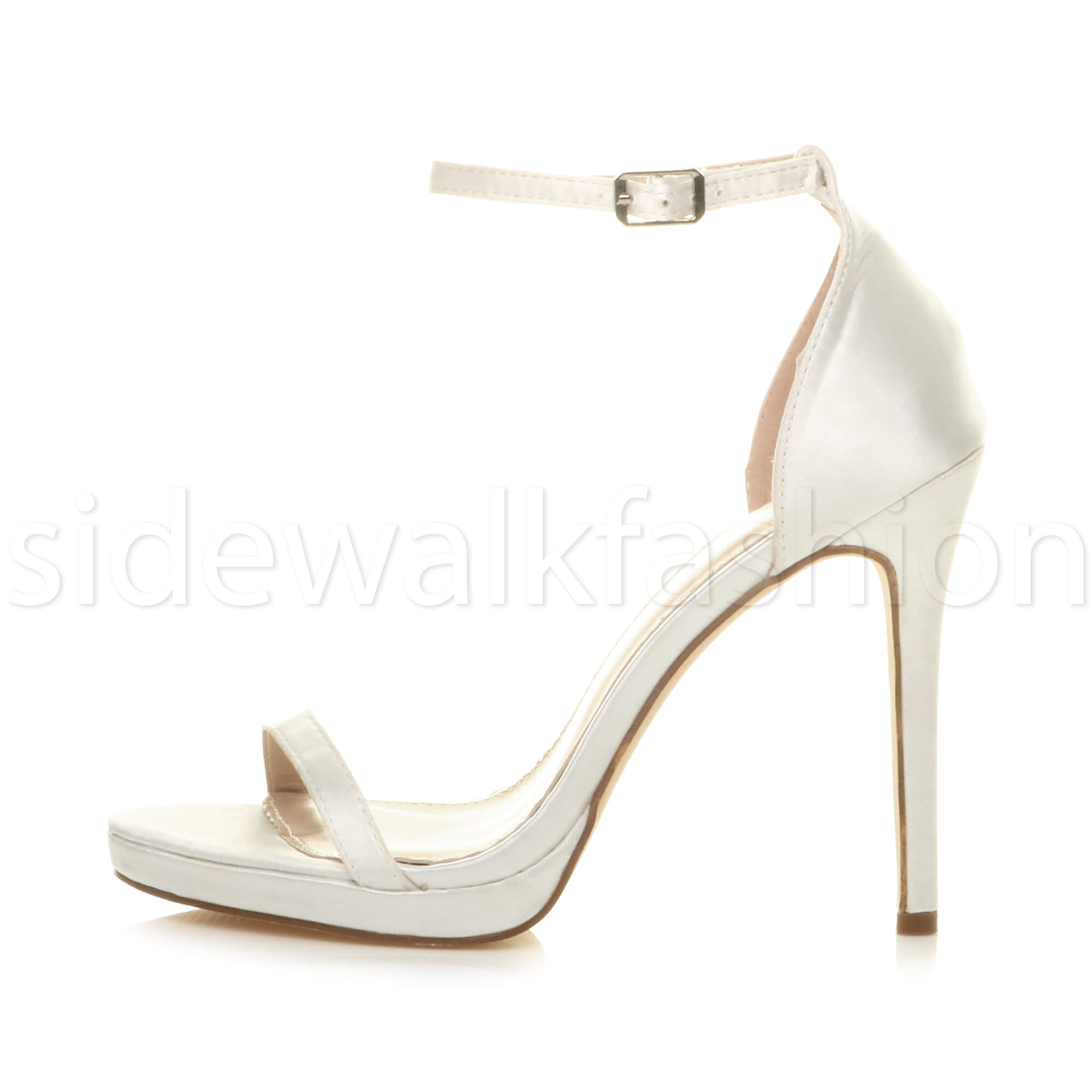 Womens-ladies-high-heel-barely-there-strappy-party-peep-toe-shoes-sandals-size thumbnail 141