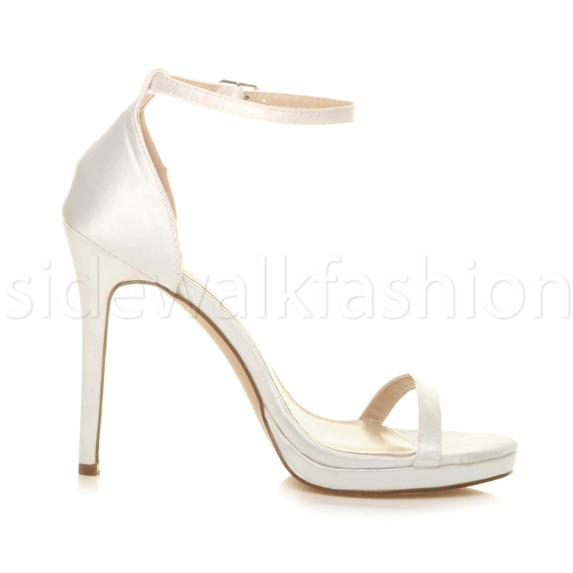 Womens-ladies-high-heel-barely-there-strappy-party-peep-toe-shoes-sandals-size thumbnail 142