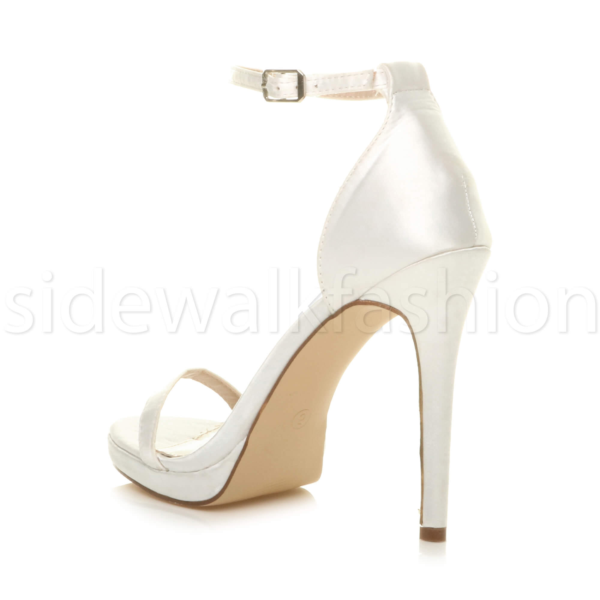 Womens-ladies-high-heel-barely-there-strappy-party-peep-toe-shoes-sandals-size thumbnail 143