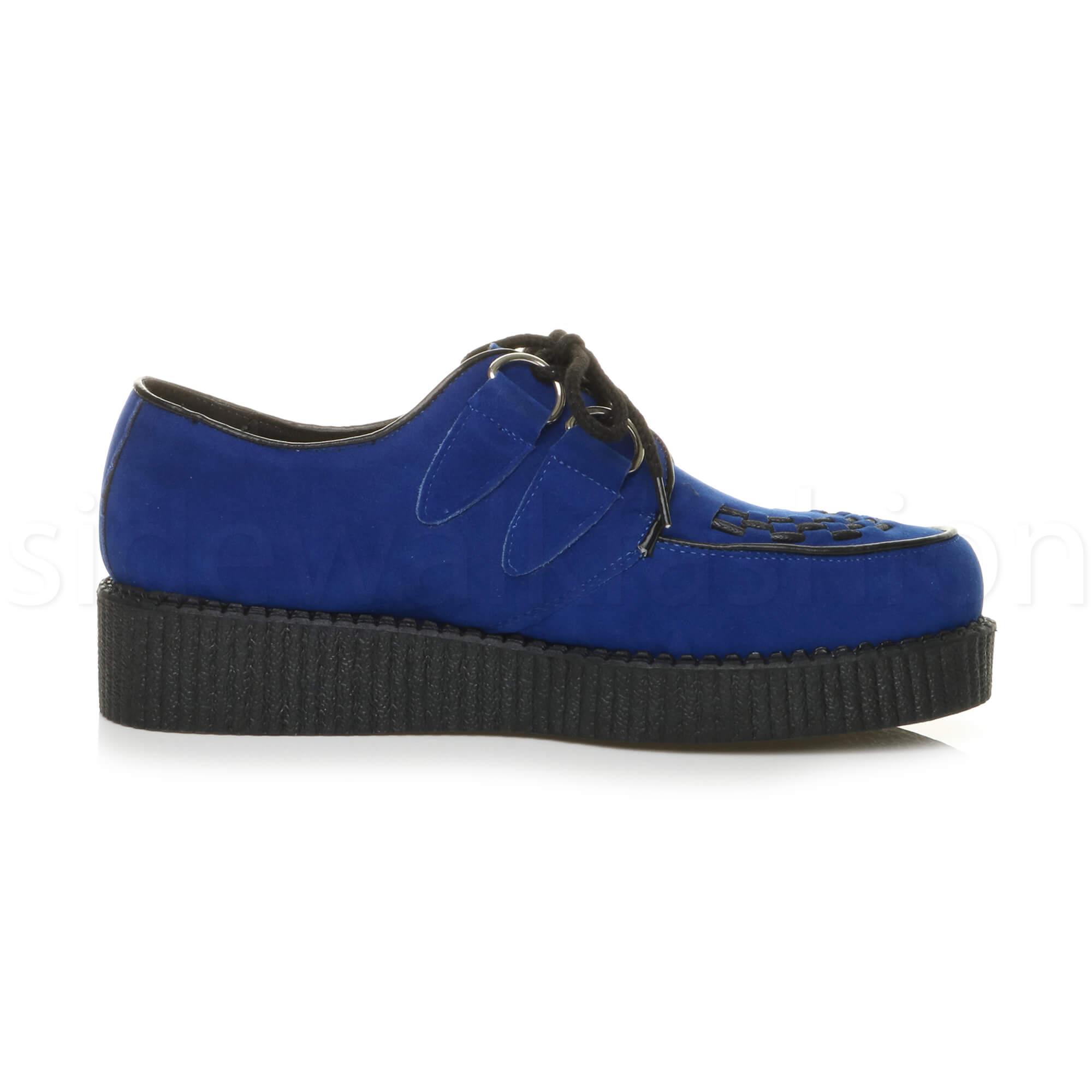Blue Suede Teddy Boy Shoes