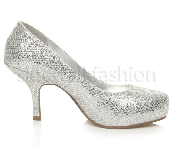 Womens-ladies-low-mid-heel-concealed-platform-work-party-court-shoes-pumps-size thumbnail 133