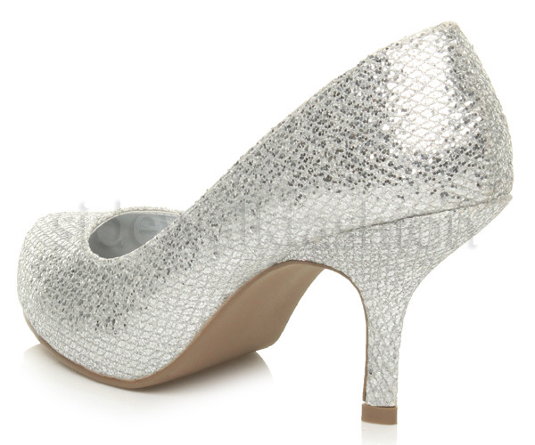 Womens-ladies-low-mid-heel-concealed-platform-work-party-court-shoes-pumps-size thumbnail 134