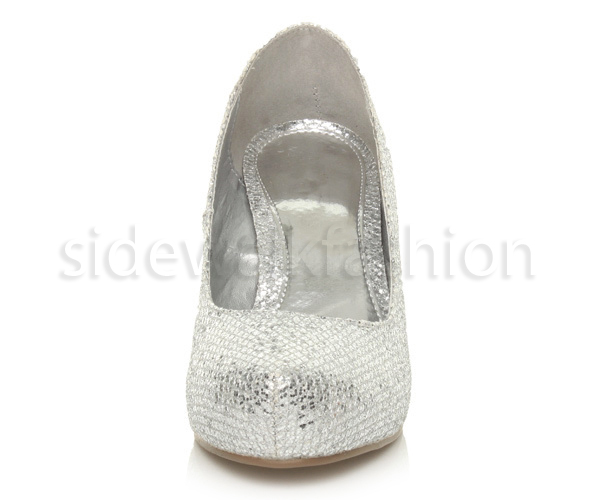 Womens-ladies-low-mid-heel-concealed-platform-work-party-court-shoes-pumps-size thumbnail 135