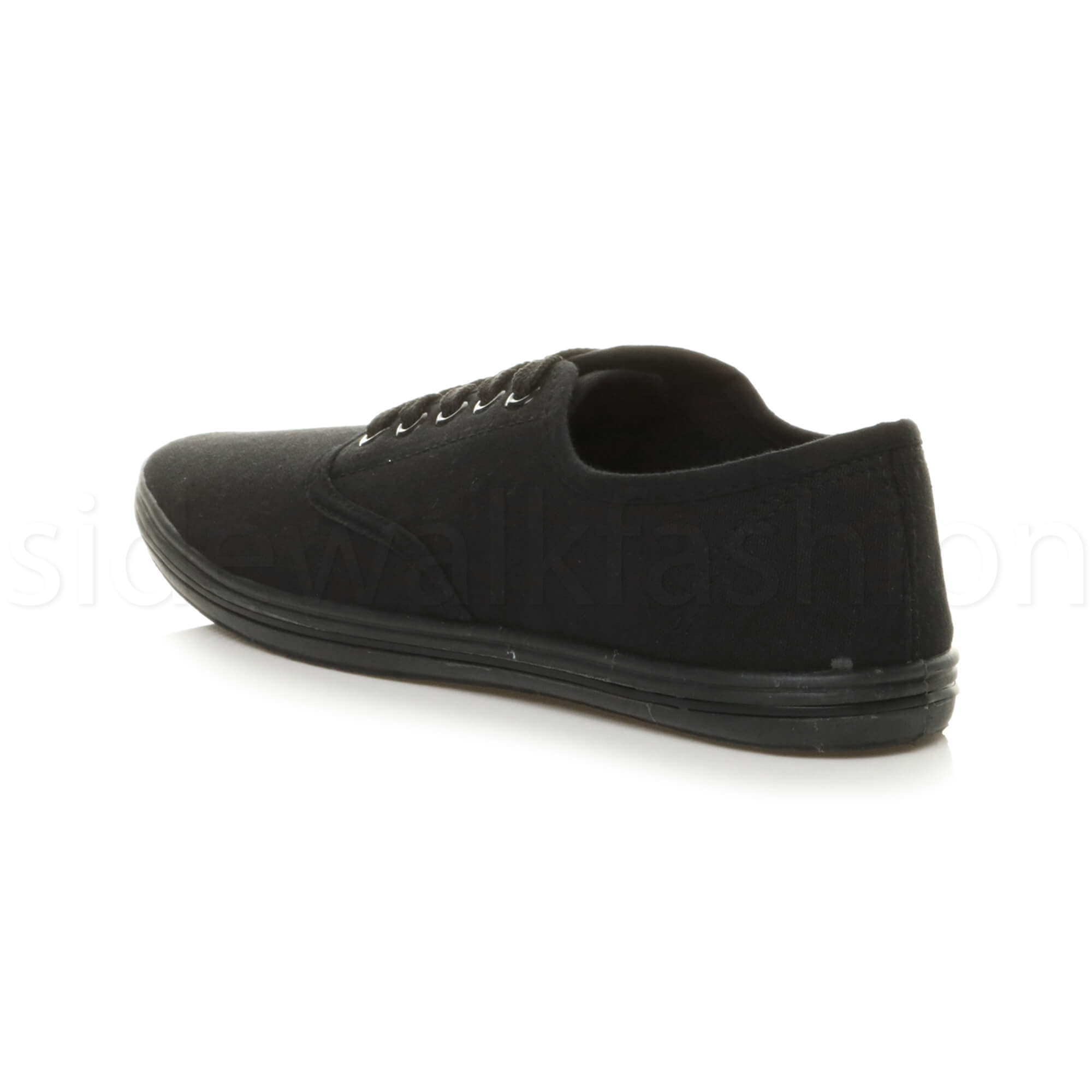 Mens-canvas-trainers-plimsoles-plimsolls-shoes-lace-up-pumps-size thumbnail 5