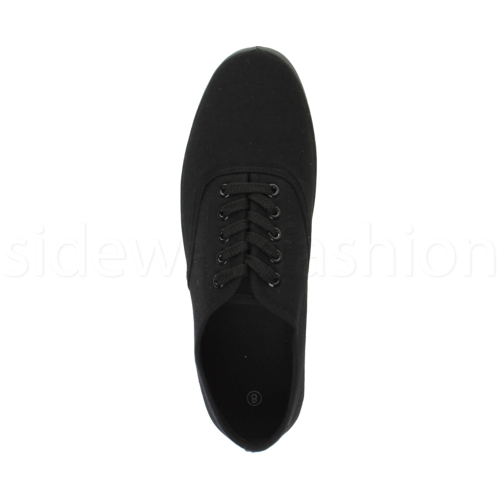 Mens-canvas-trainers-plimsoles-plimsolls-shoes-lace-up-pumps-size thumbnail 6