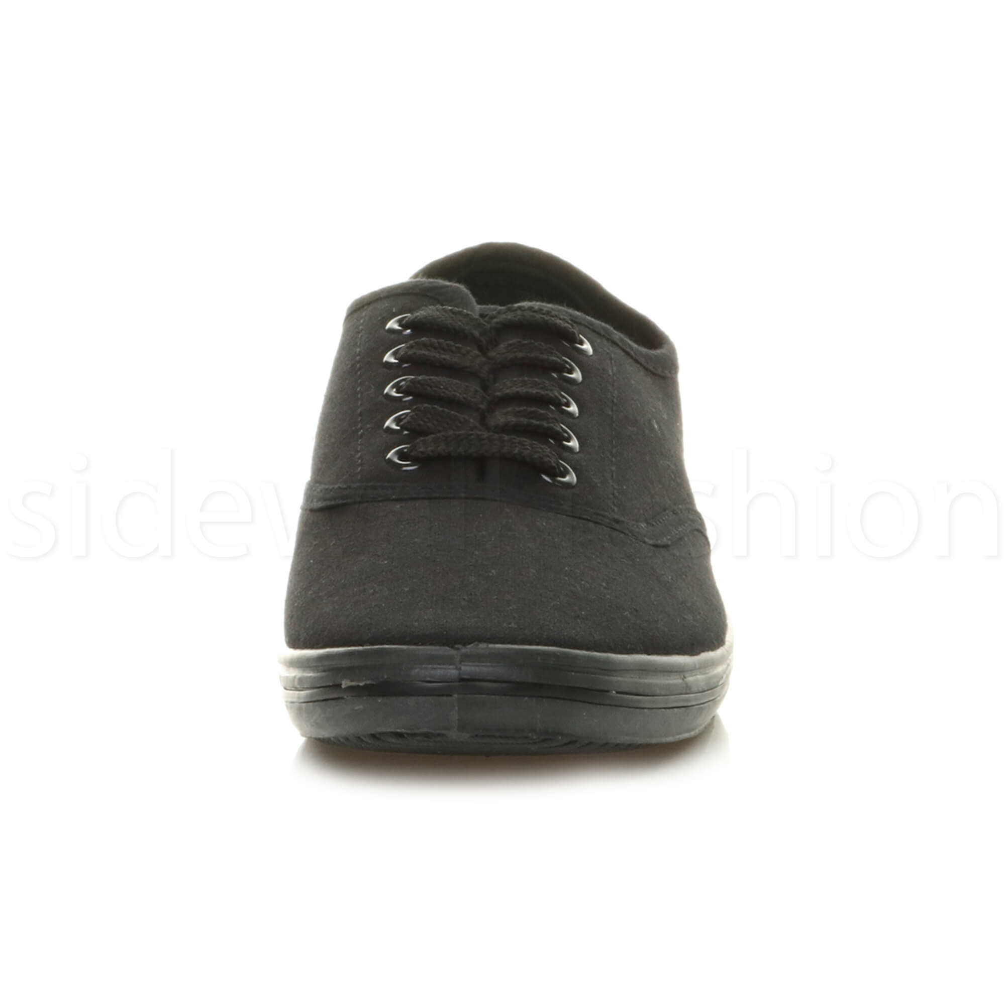 Mens-canvas-trainers-plimsoles-plimsolls-shoes-lace-up-pumps-size thumbnail 7