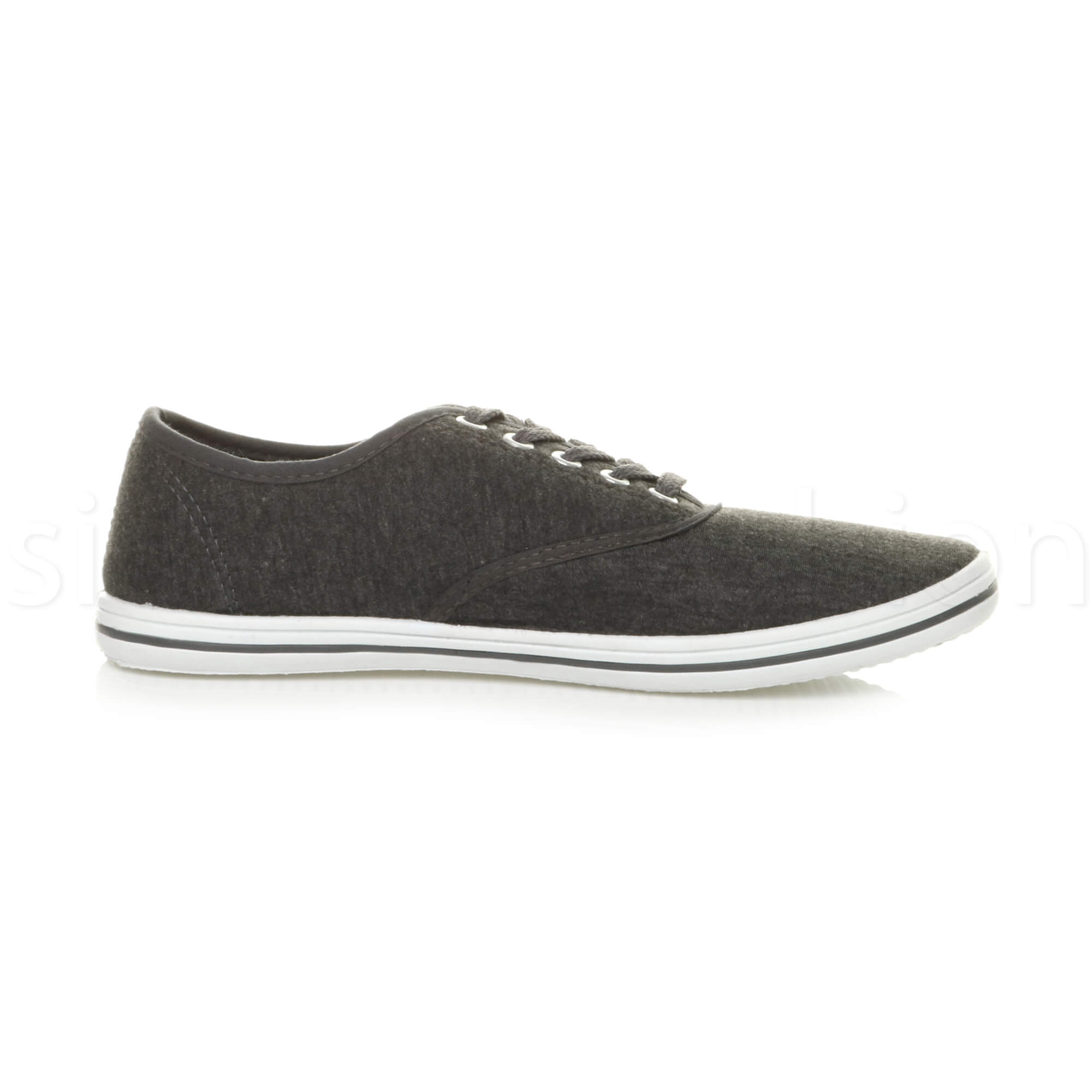Mens-canvas-trainers-plimsoles-plimsolls-shoes-lace-up-pumps-size thumbnail 11